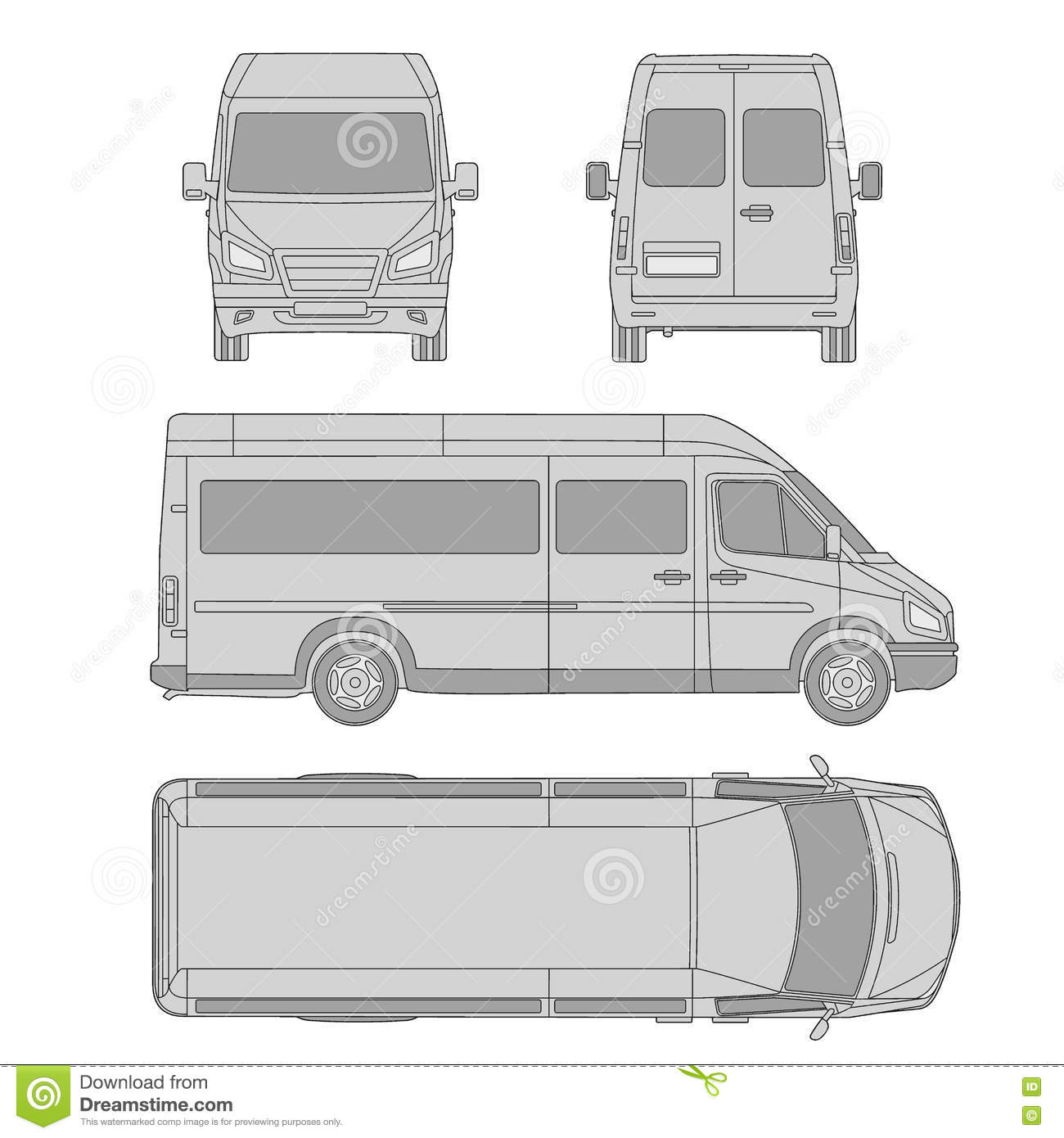 Car template commercial vehicle delivery van blueprint drawing royalty free vector download car template commercial vehicle delivery van blueprint drawing proection malvernweather Images