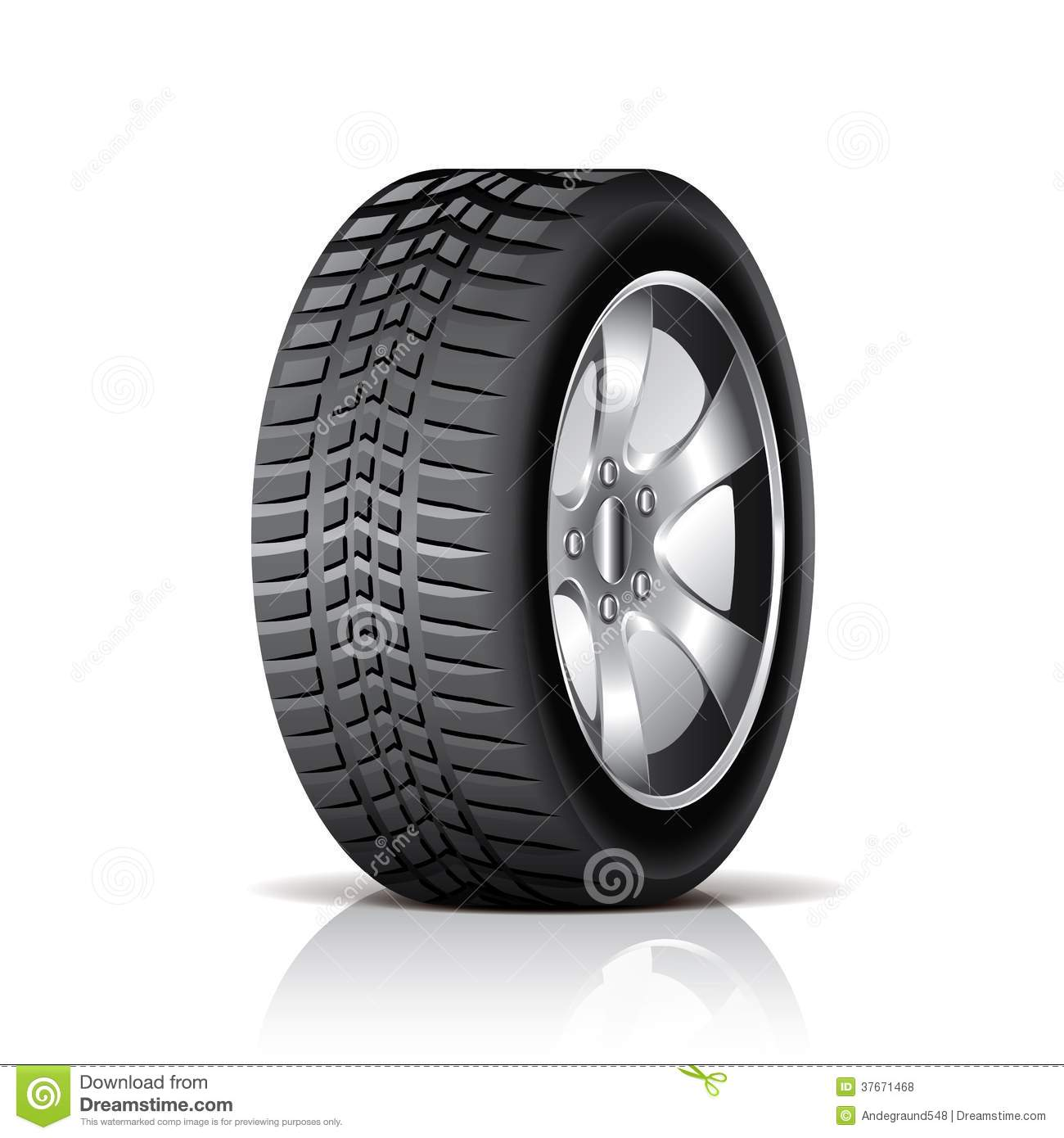 Car Tire Isolated On White Vector Stock Vector - Illustration of ... for Racing Tire Vector  17lplyp