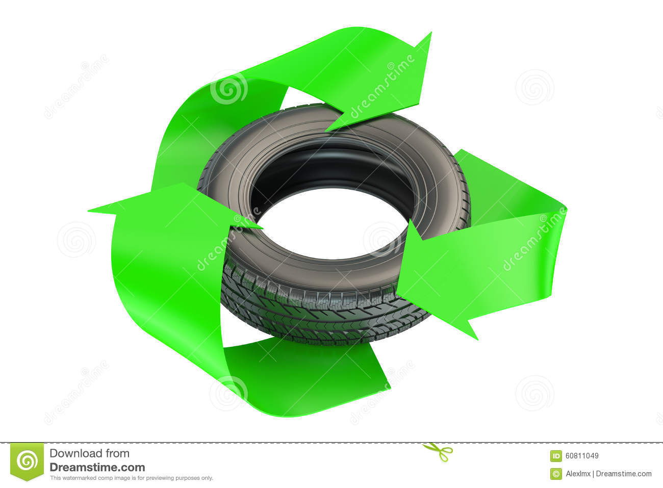 Car tire with recycle symbol stock illustration illustration of car tire with recycle symbol buycottarizona Choice Image
