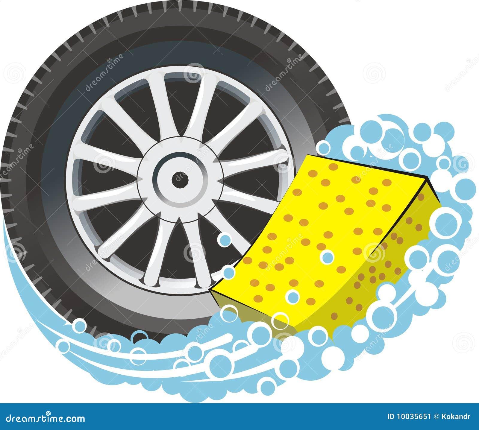 Car tire with sponge