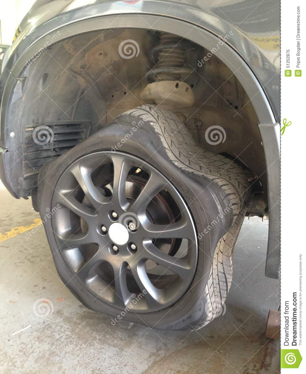 Car Tire Stock Photo - Image: 51252875