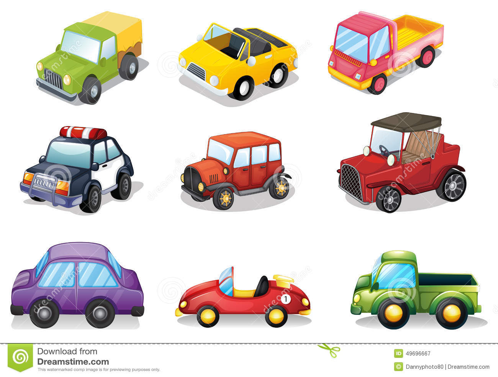 car toys stock vector image 49696667 Feed Dog Clip Art Pick Up Toys Clip Art Girl