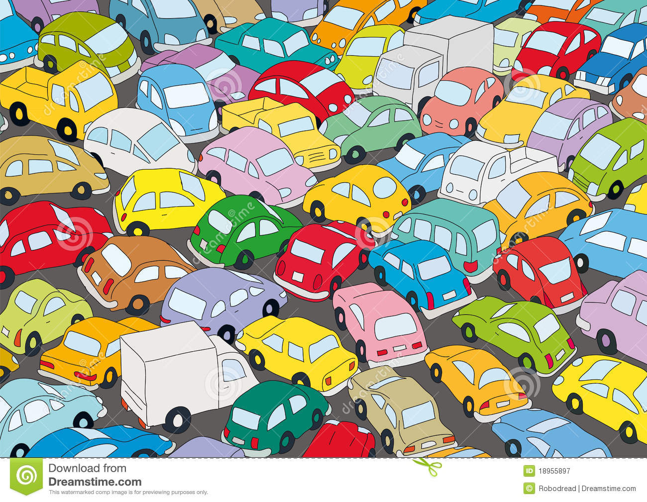 Car Traffic Jam Royalty Free Stock Photography - Image: 18955897