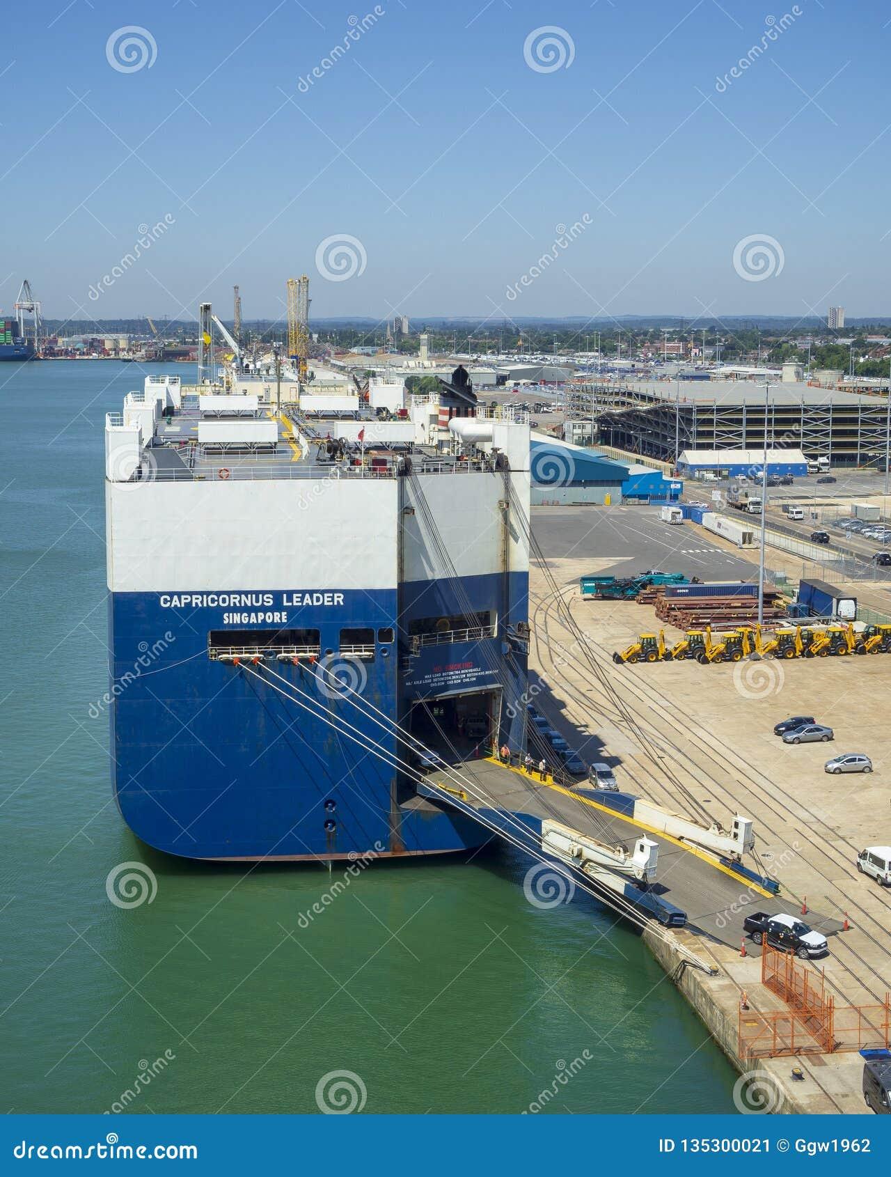 Car Transporter Ship Capricornus Leader Editorial Photo