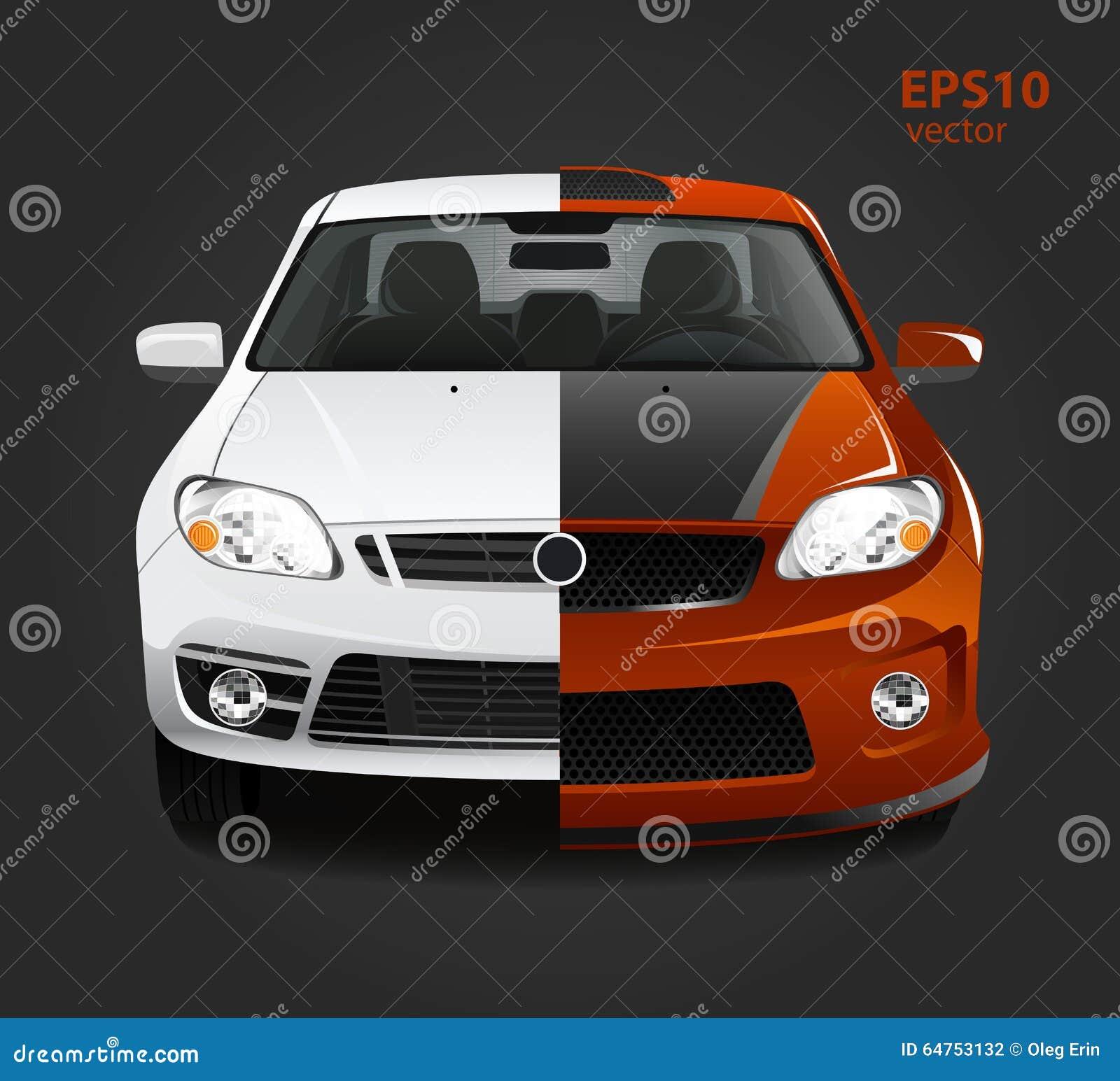 Car Tuning Stock Vector Image 64753132
