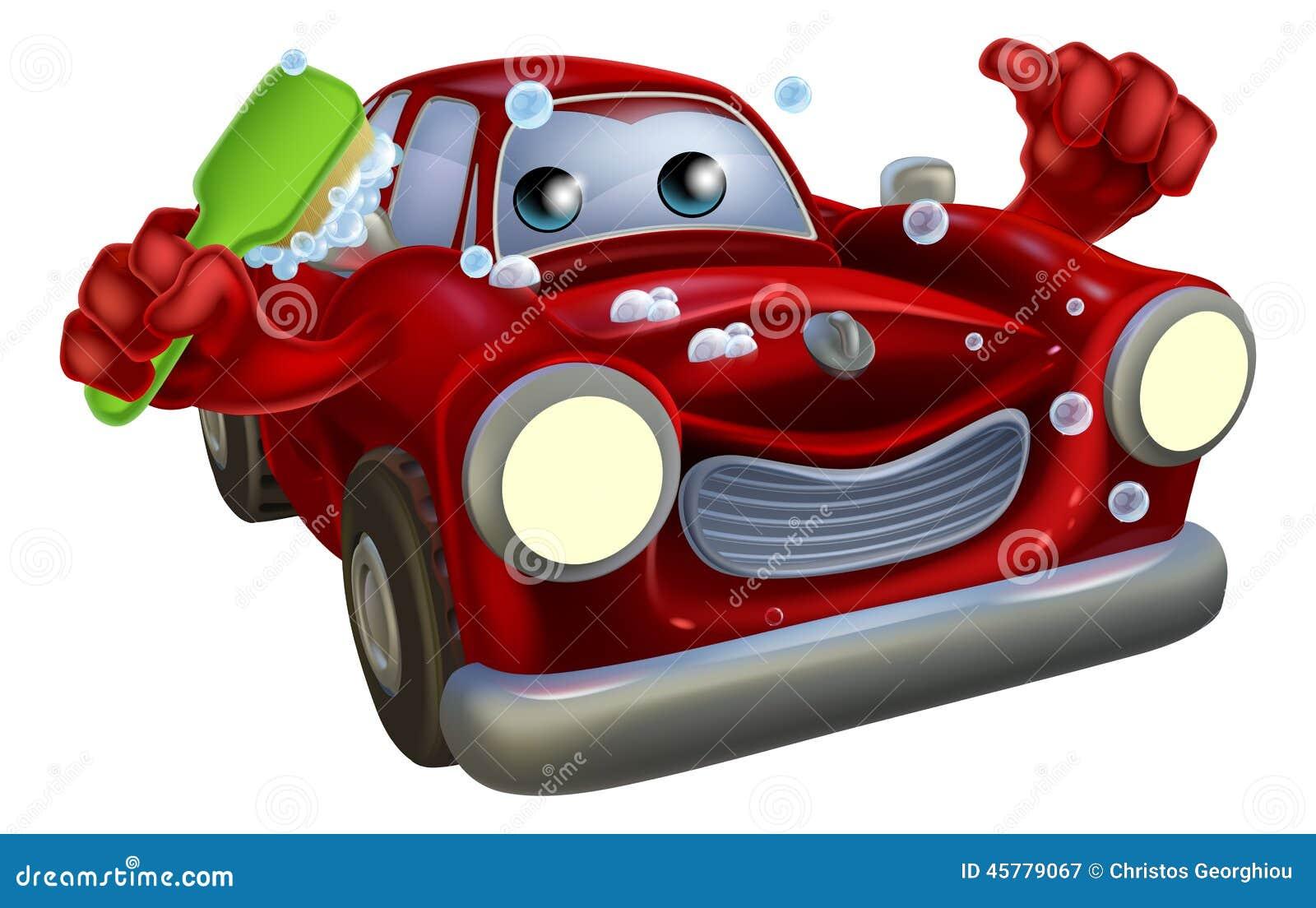 Car Wash Brush >> Car Valet Cartoon Stock Vector - Image: 45779067