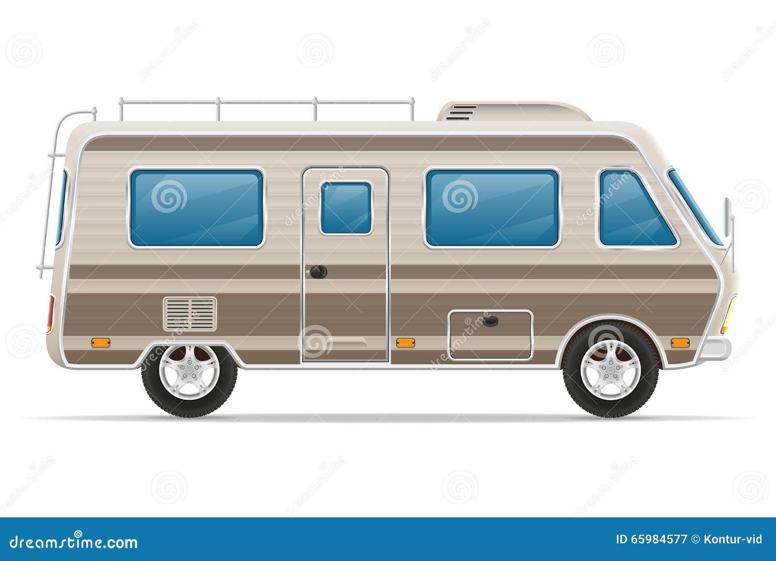Camper van illustration stock illustration cartoondealer - Costo casa mobile ...