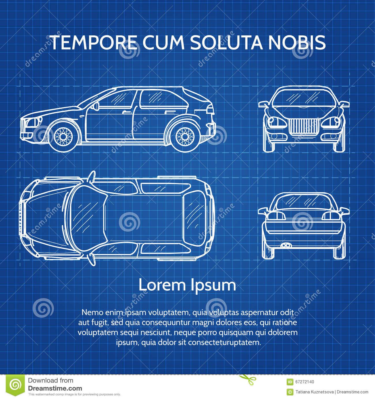 Download Car Vector Blueprint Stock Vector. Illustration Of Graphic    67272140