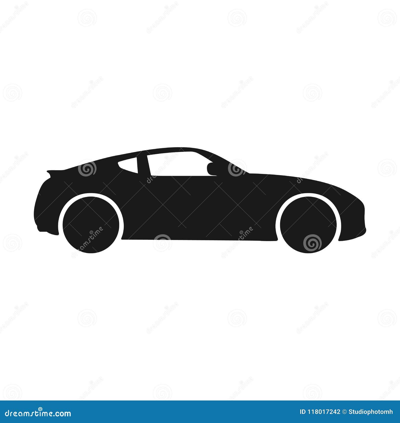 Car Vector Icon. Isolated Simple Side Car Logo
