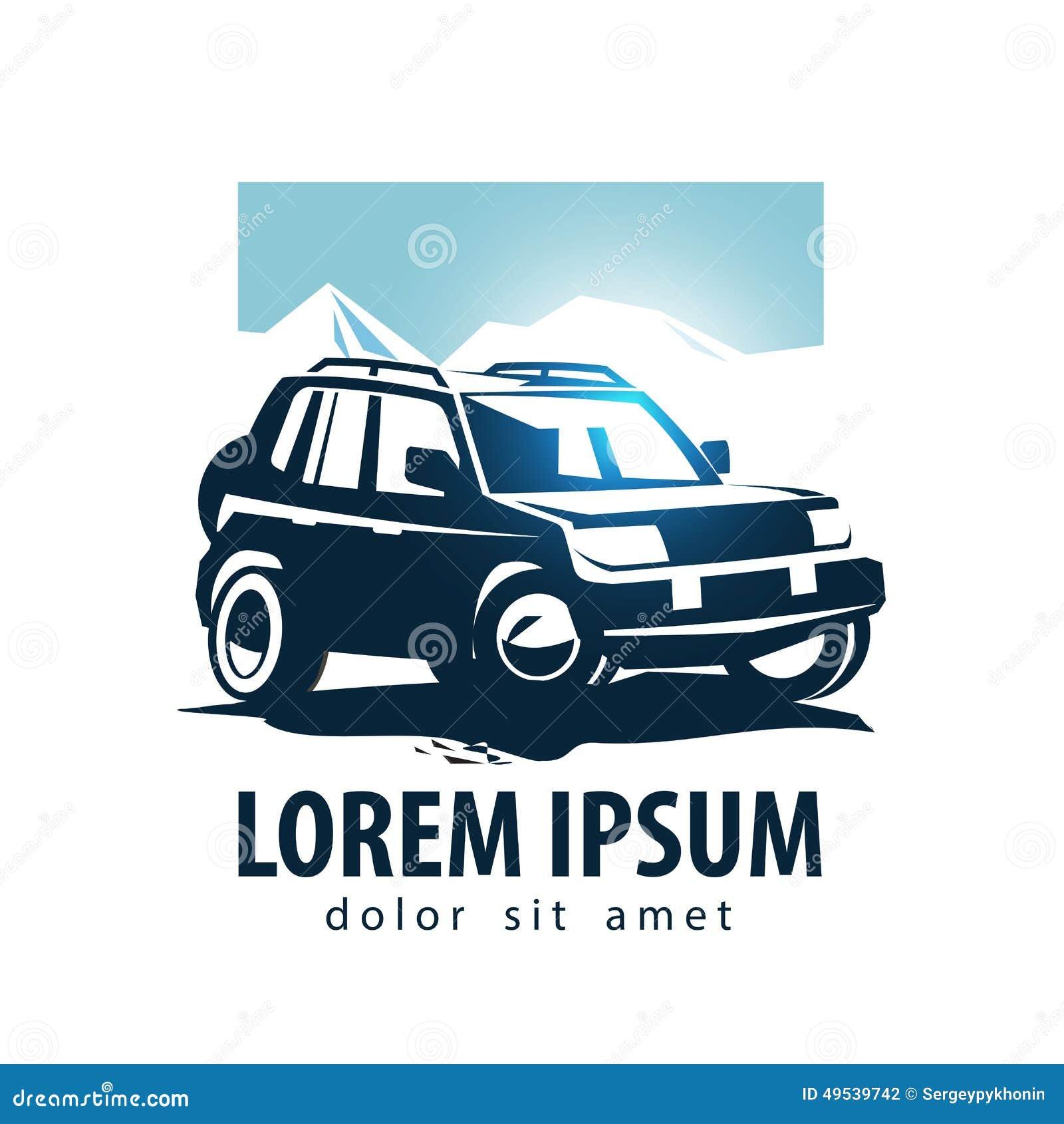 Suv Car Icon Logo Design Stock Vector Image