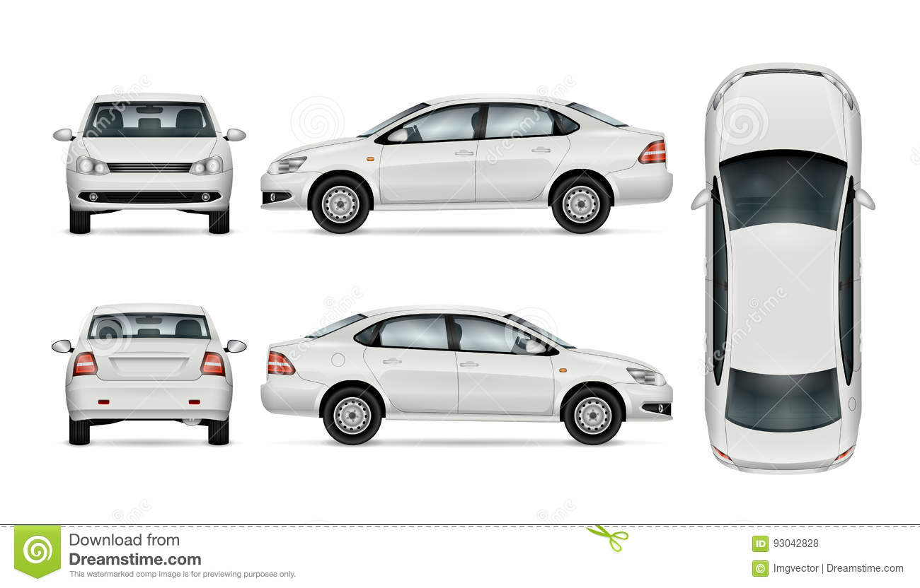 Car Vector Template Stock Vector Illustration Of Above