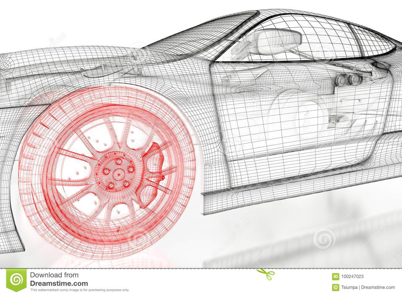 3d car mesh on a white stock illustration illustration of speed 3d car mesh on a white speed caliper malvernweather Choice Image