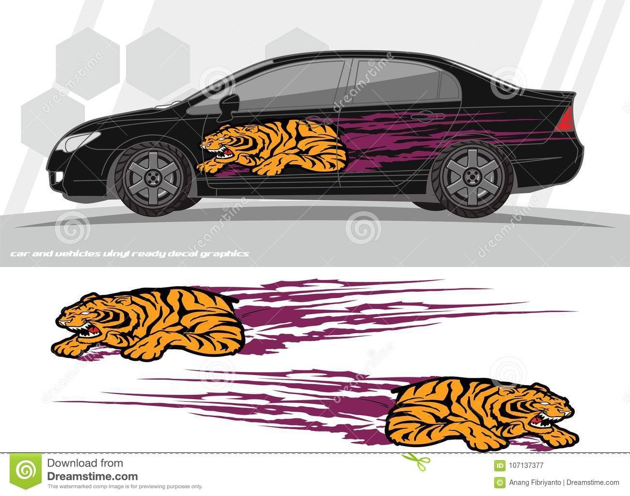 Car and vehicles decal graphics kit designs ready to print and cut for vinyl stickers