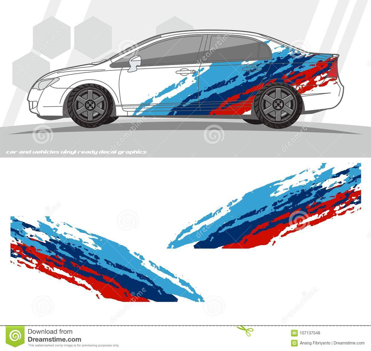 Car And Vehicles Decal Graphics Kit Designs Ready To