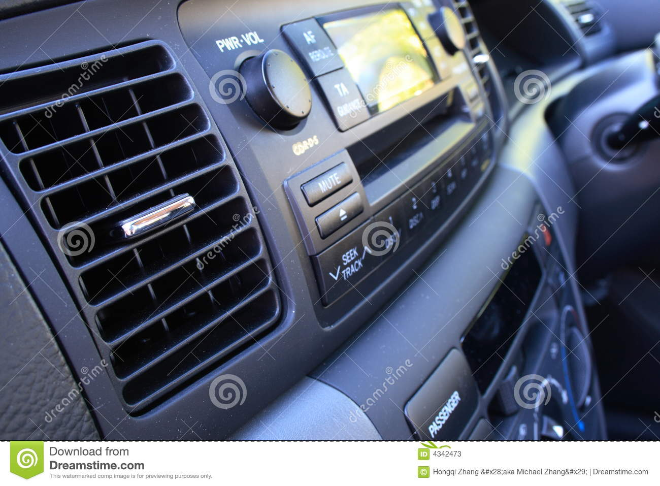 Car vent and radio