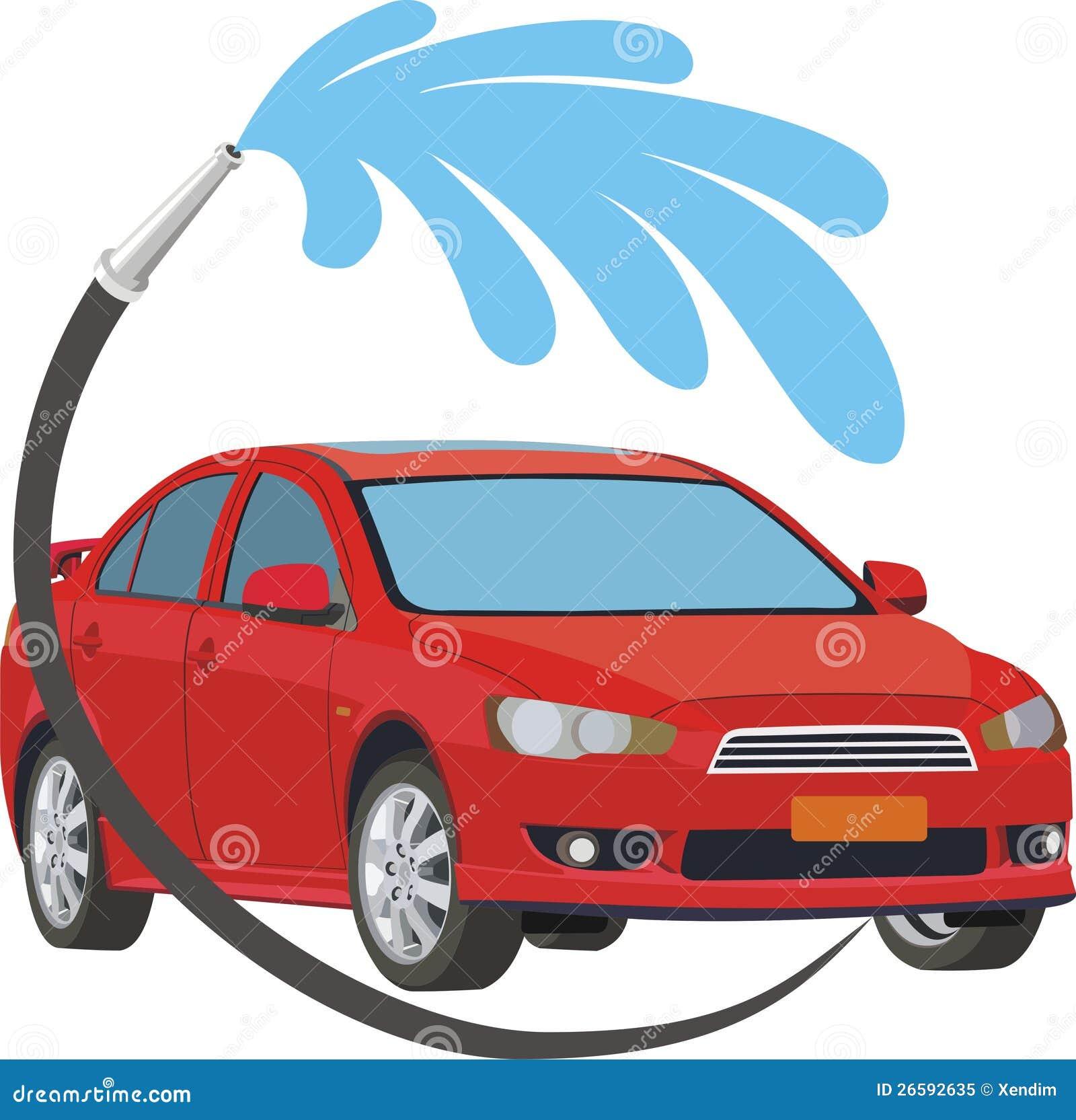 car wash stock vector image of hose vehicle vehicles 26592635. Black Bedroom Furniture Sets. Home Design Ideas
