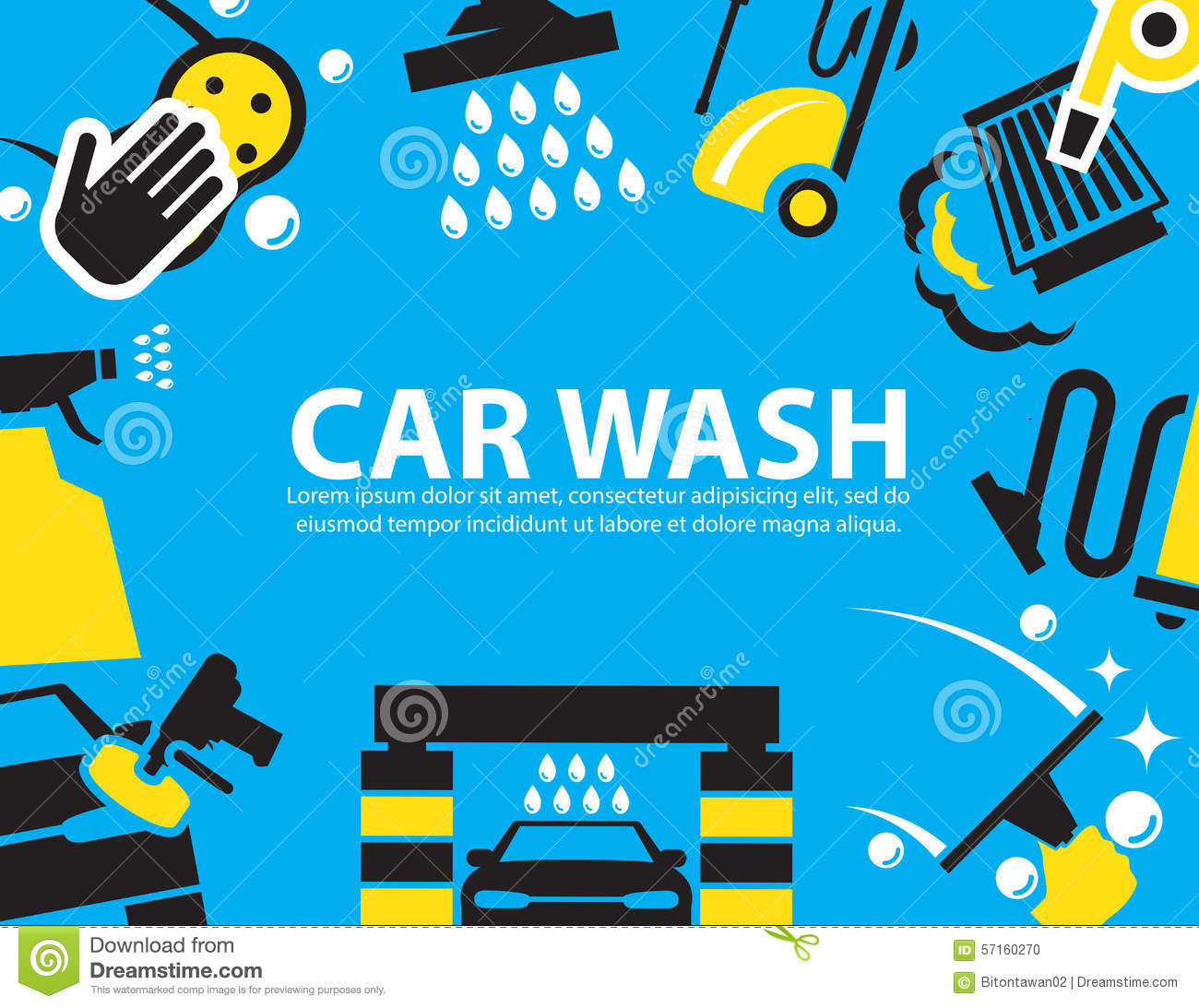 Car Wash Background Stock Vector Image 57160270
