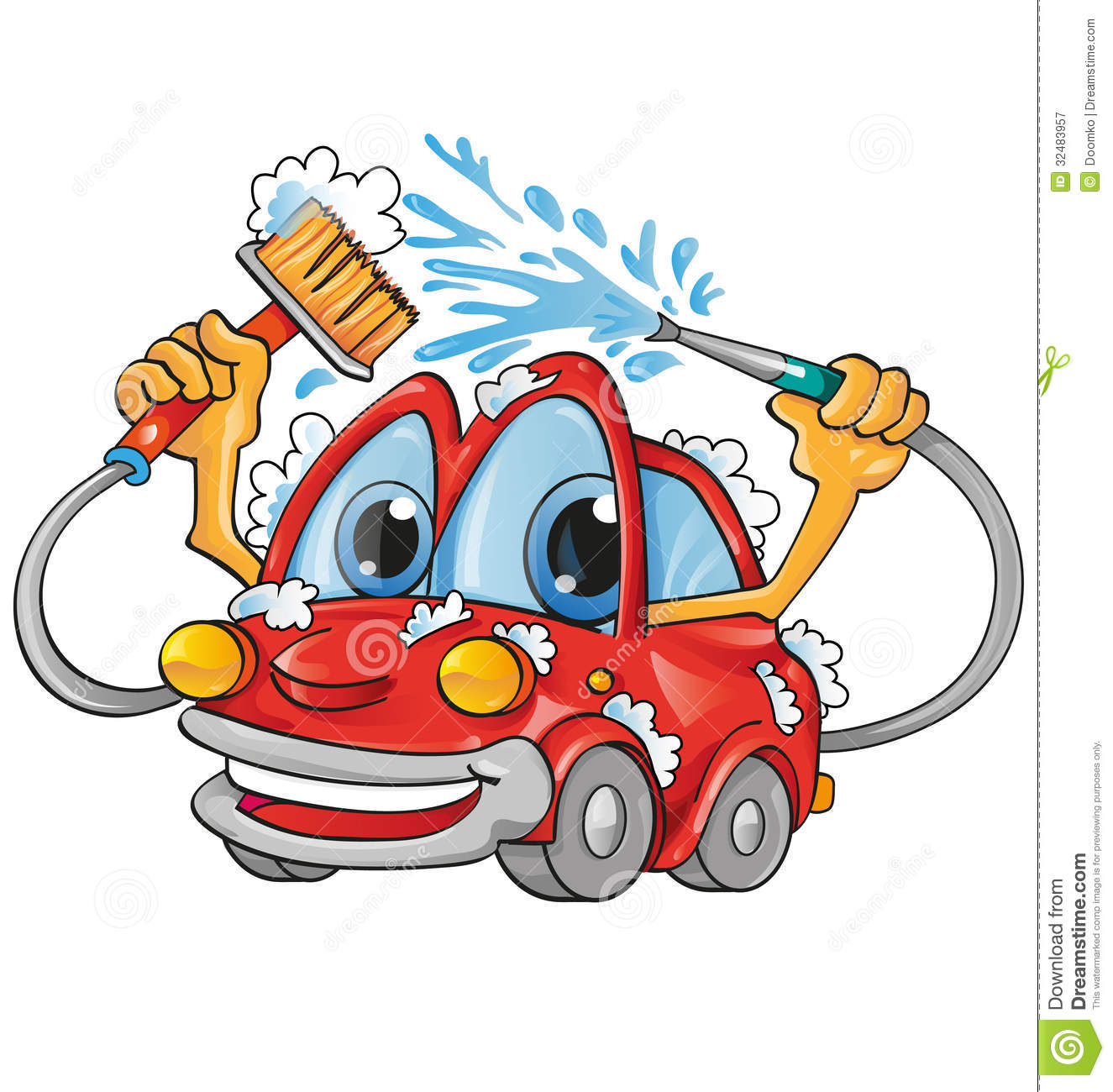 Car Wash Cartoon Royalty Free Stock Photography - Image: 32483957