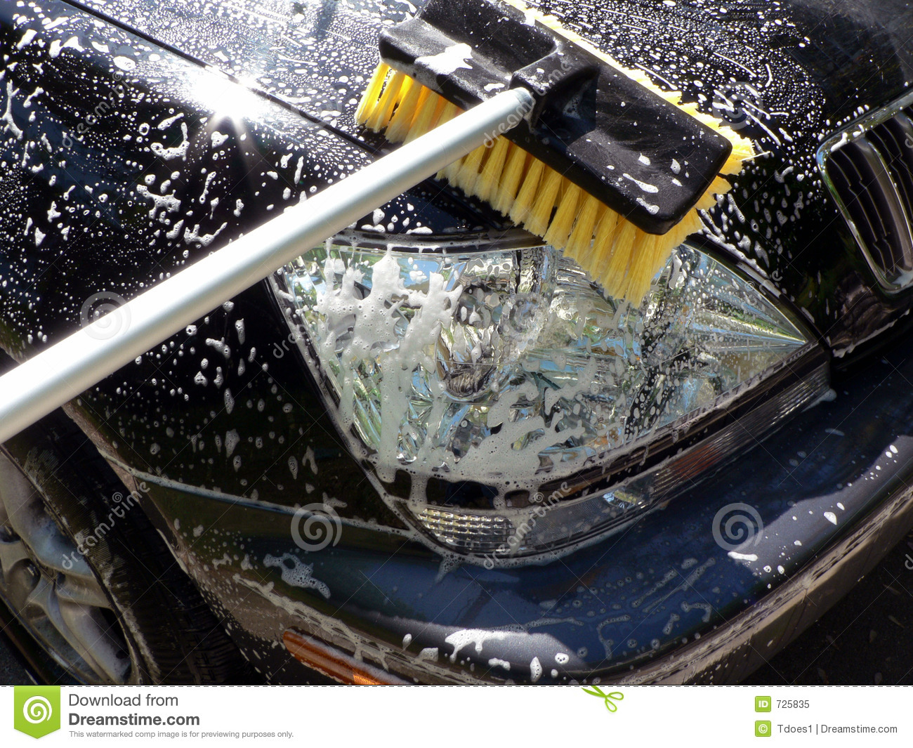 car wash day front end cleaning royalty free stock photo