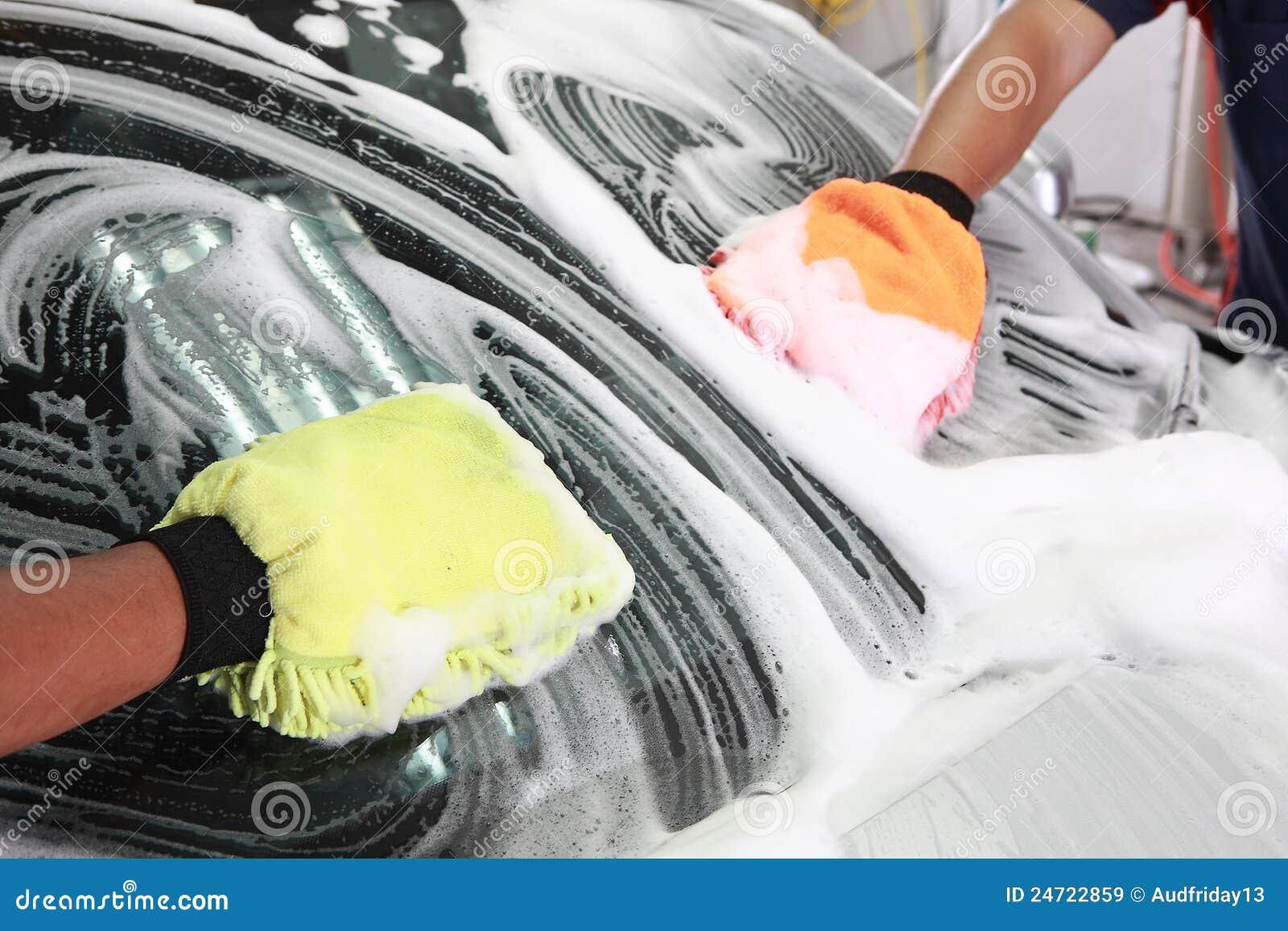 Car Wash Detailing on Car Wax Red