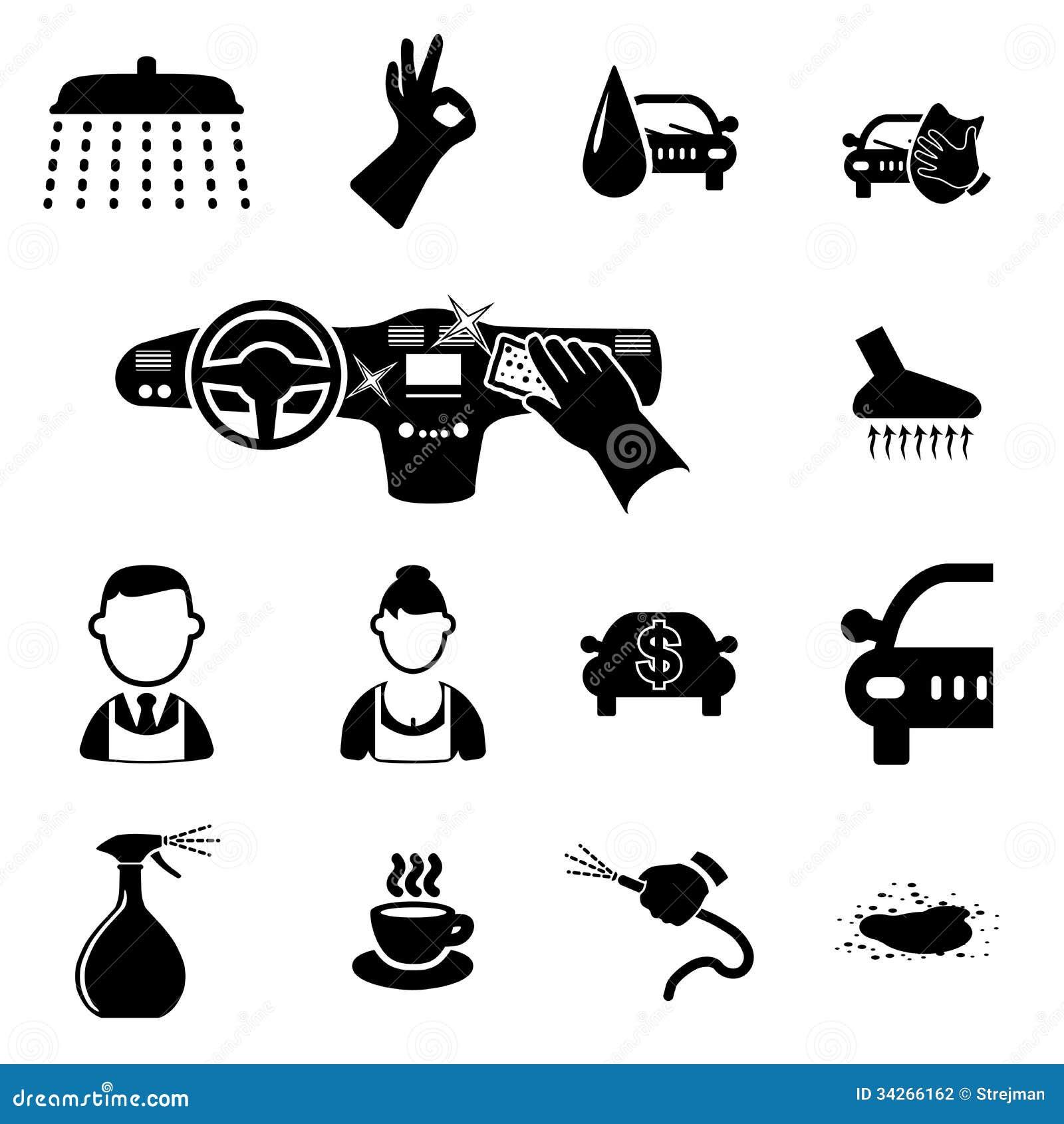 Car Wash Icons Set Stock Photography Image 34266162