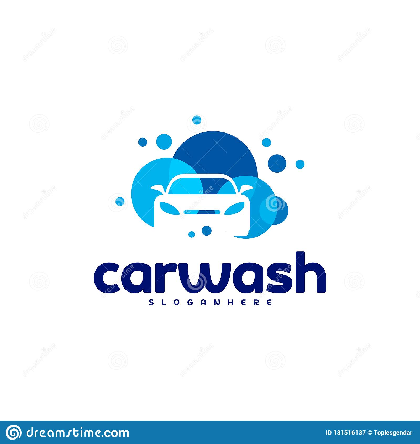 Car Wash Logo Template Designs Stock Vector Illustration Of