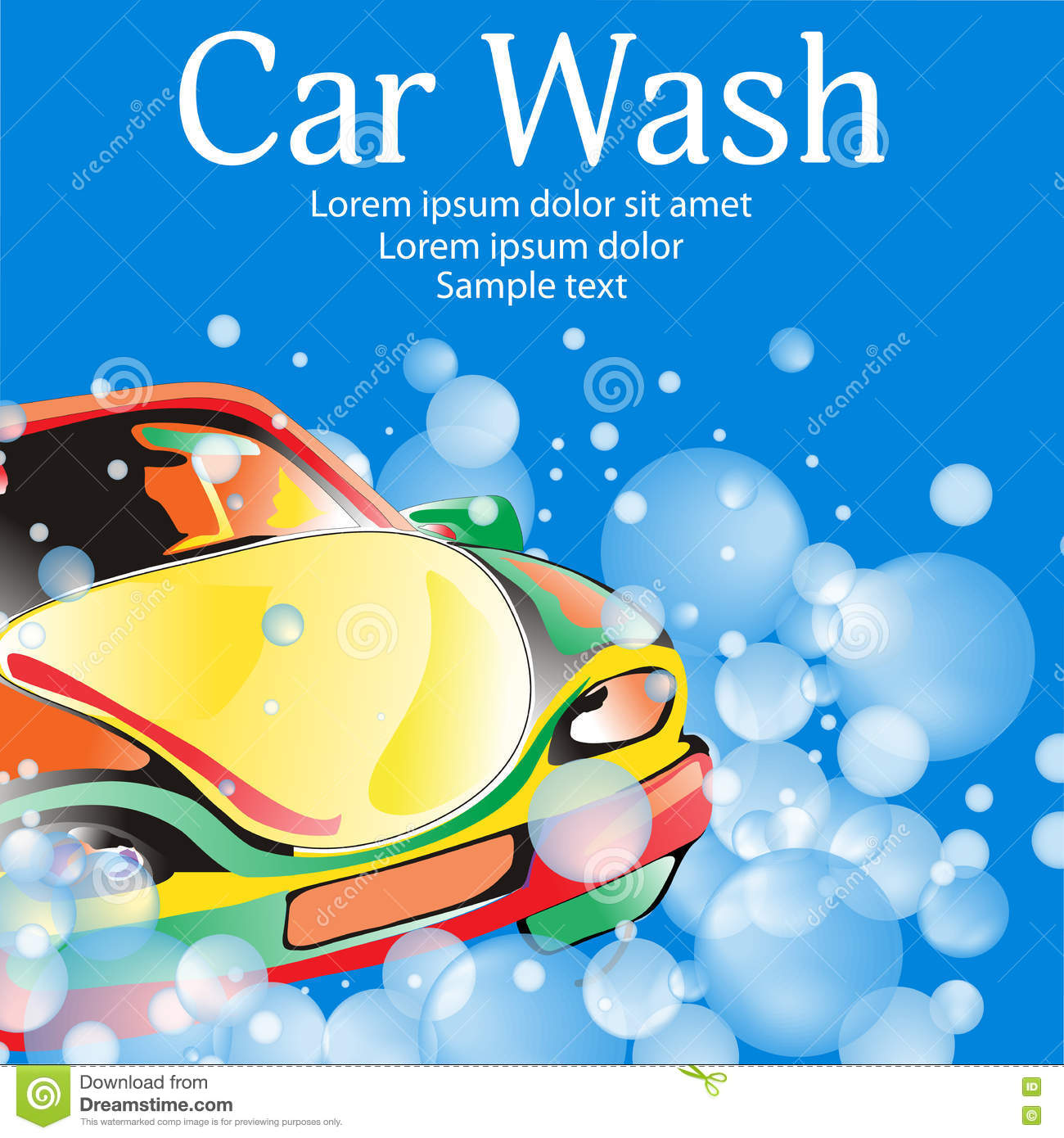 car wash poster template for your design vector stock vector