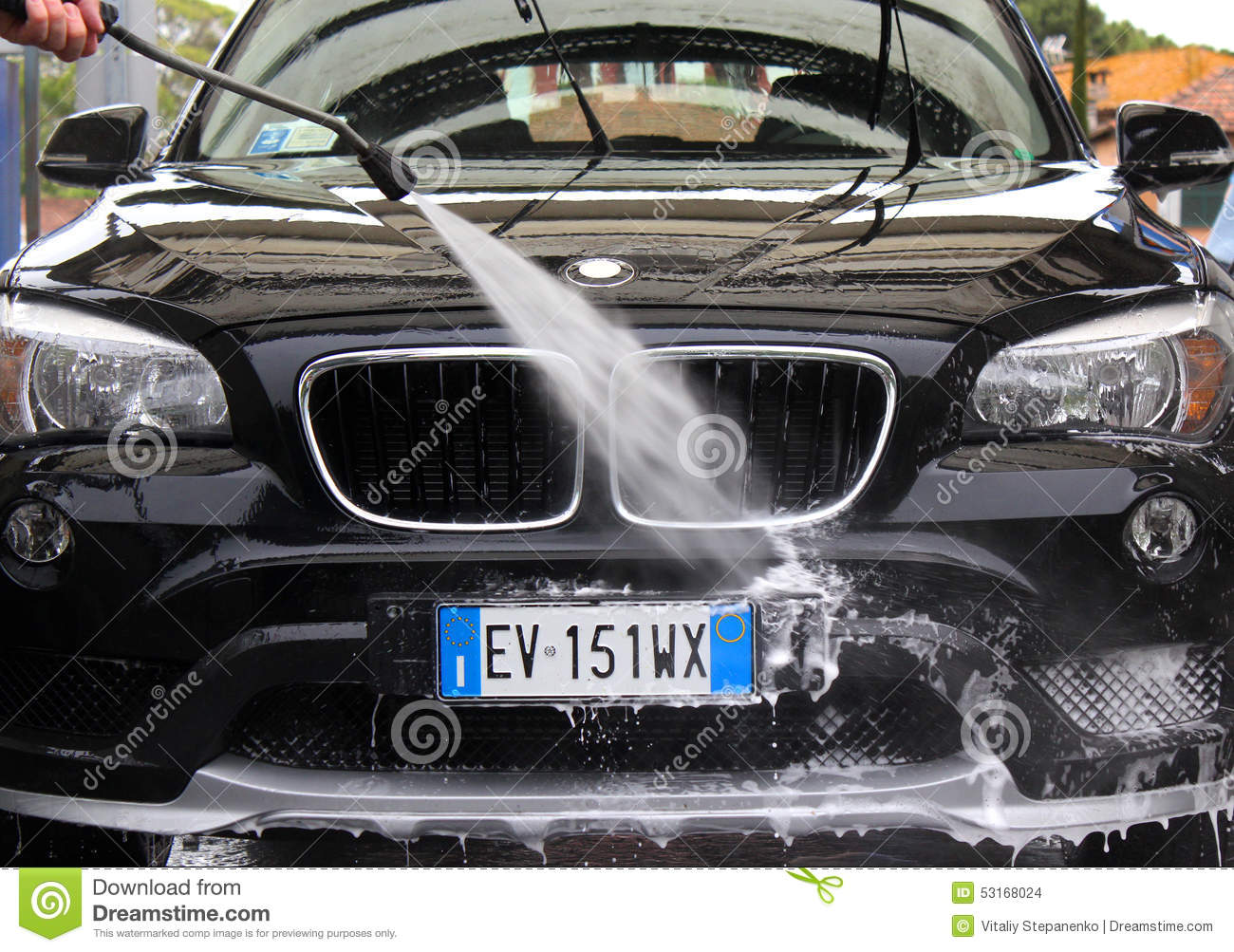 Car Wash Editorial Stock Image. Image Of Wheel, Technology