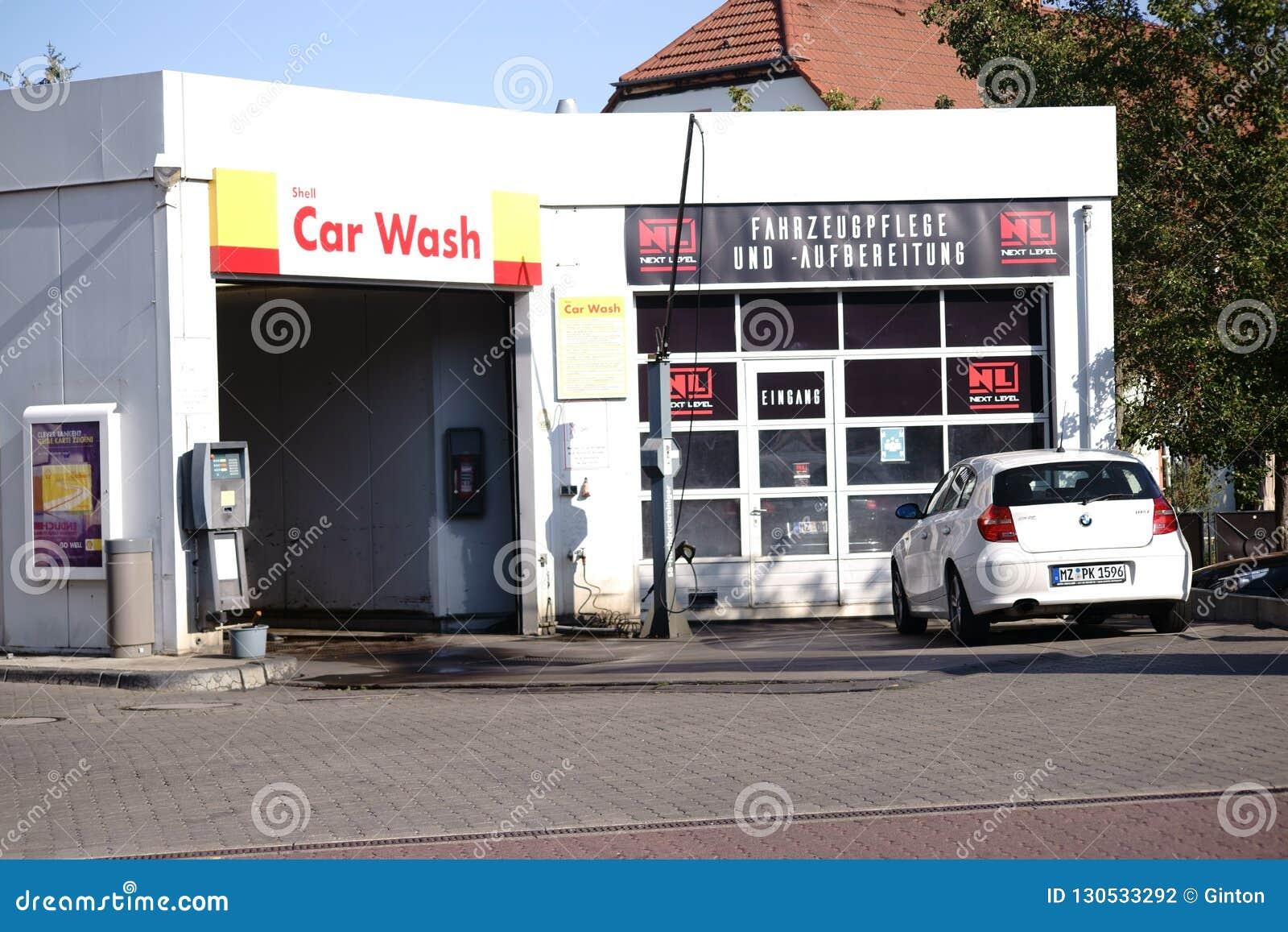 Car wash Shell gas station