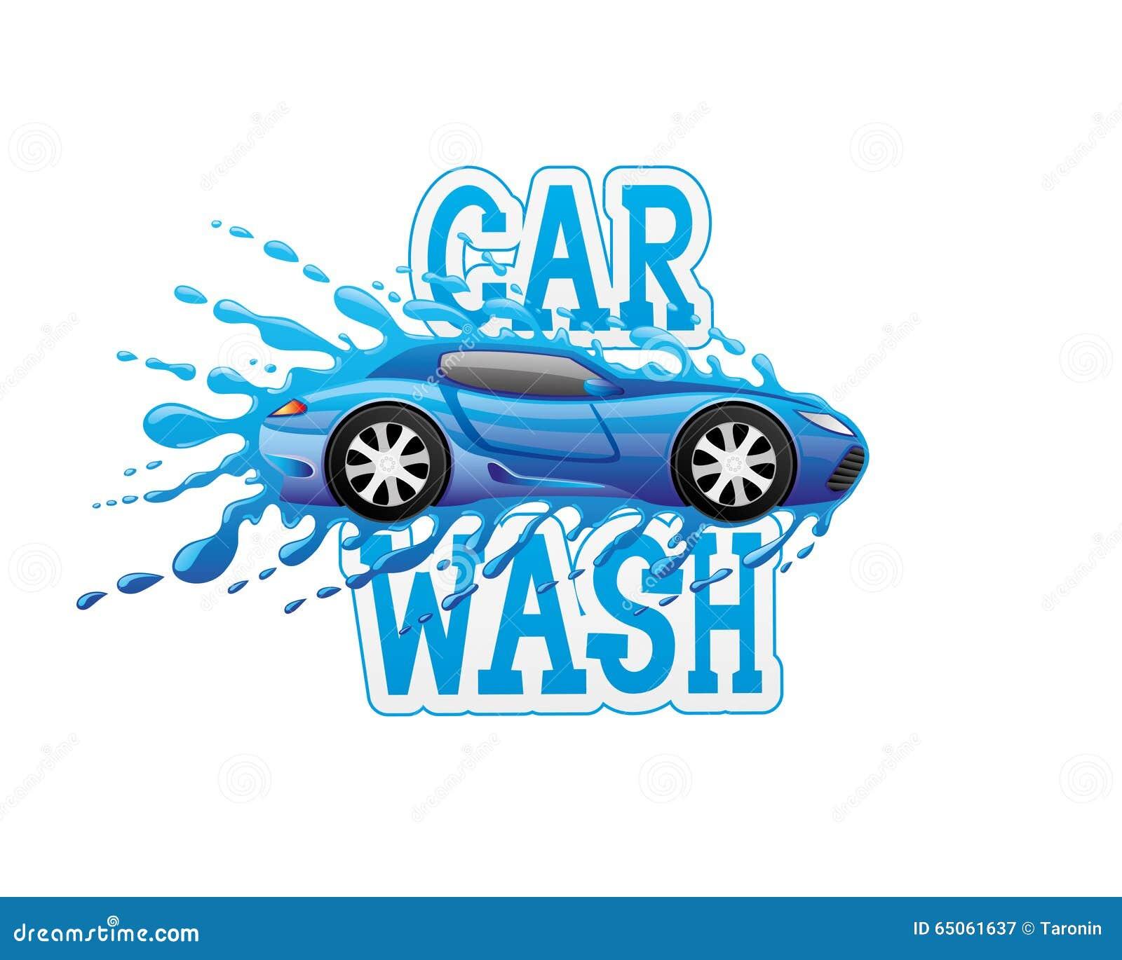 Car Wash Sign. Stock Vector