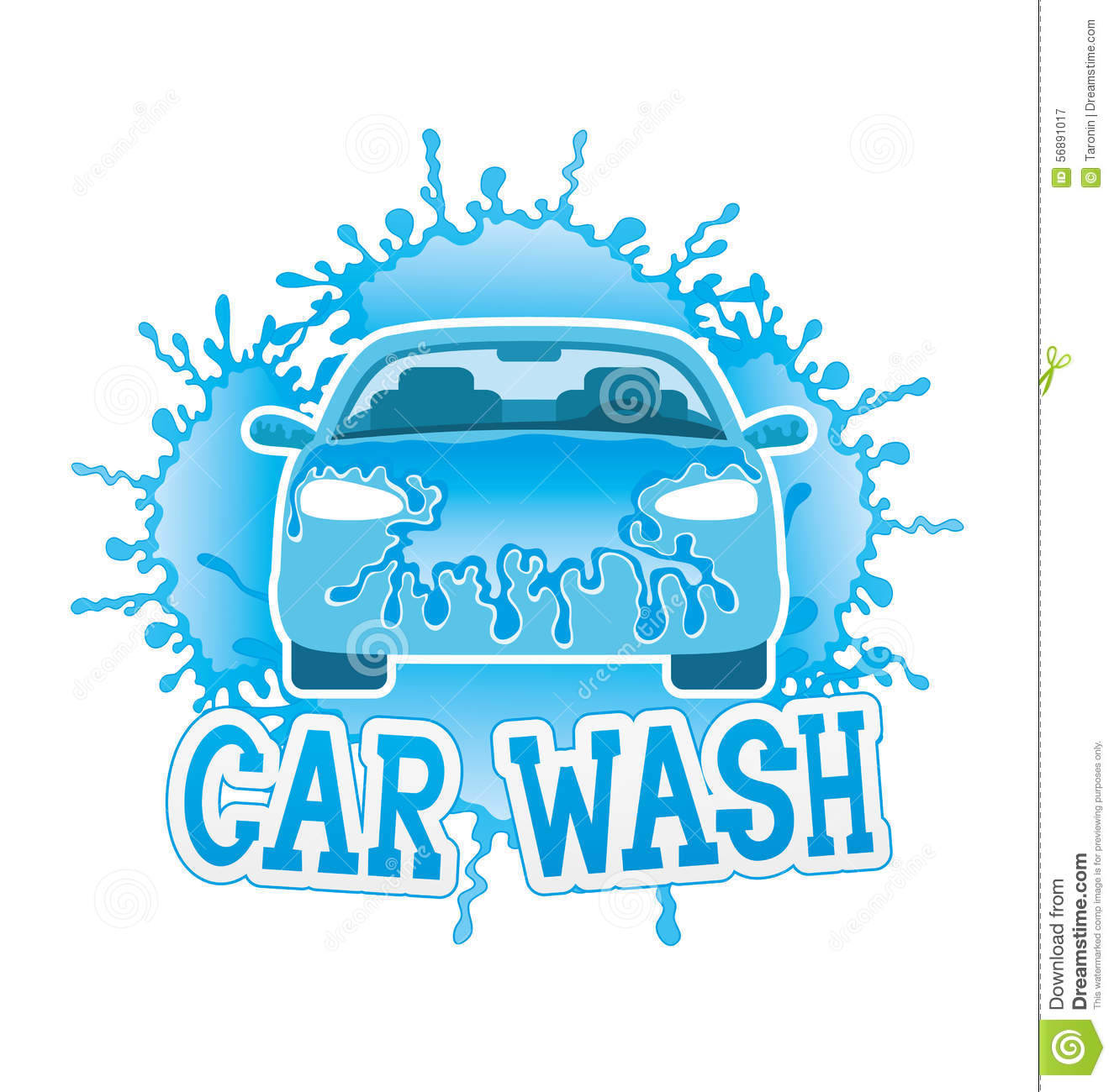 Car Wash Stock Vector Illustration Of Sedan Poster 56891017