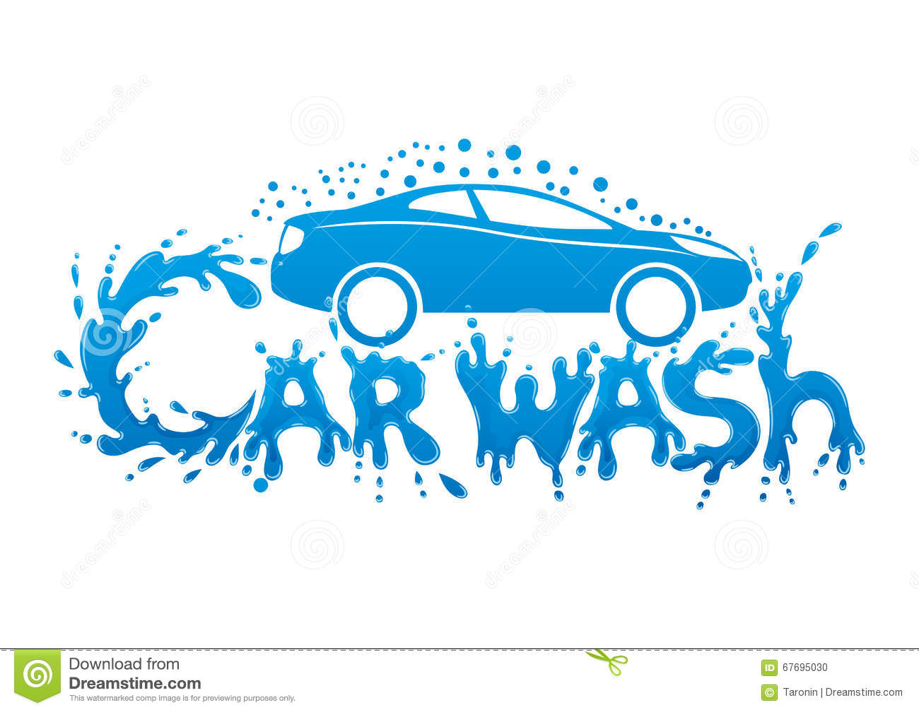 Car Wash Sign Stock Vector Illustration Of Clean Avatar 67695030