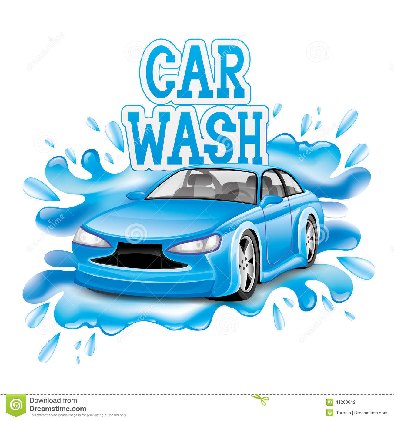 Car Wash Stock Vector Illustration Of Blue Design 41200642