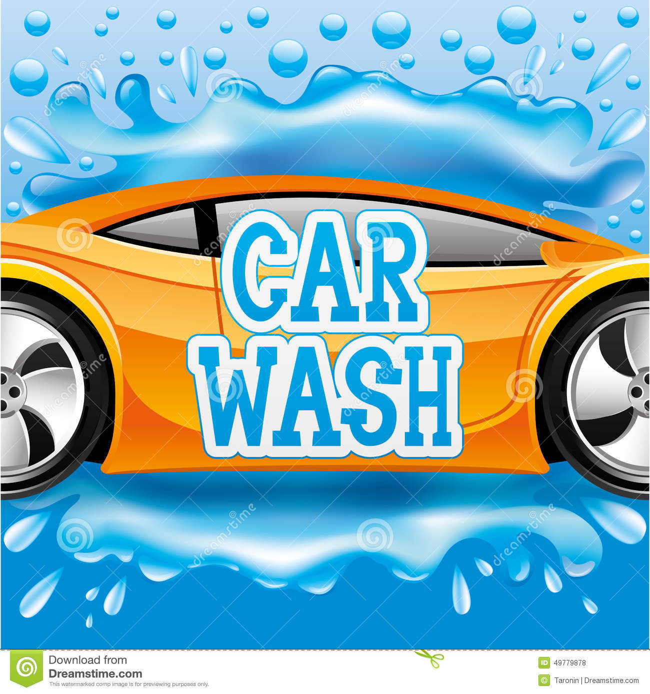 Car Wash Stock Vector Illustration Of Automotive Image 49779878
