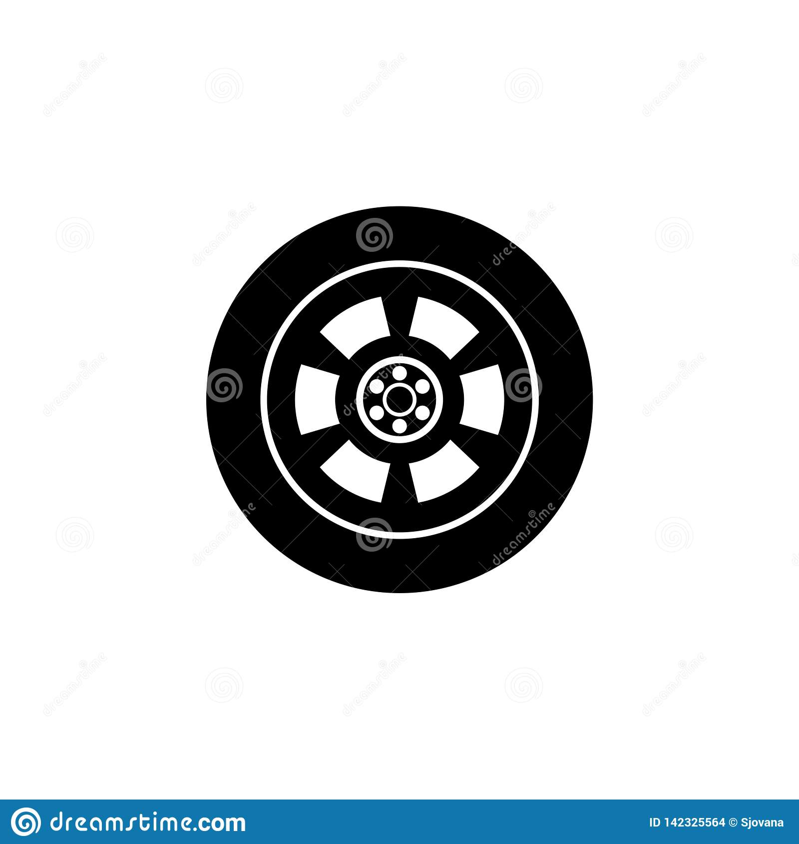 Car Wheel Abstract Icon Or Logo Stock Vector Illustration Of Disk Logo 142325564