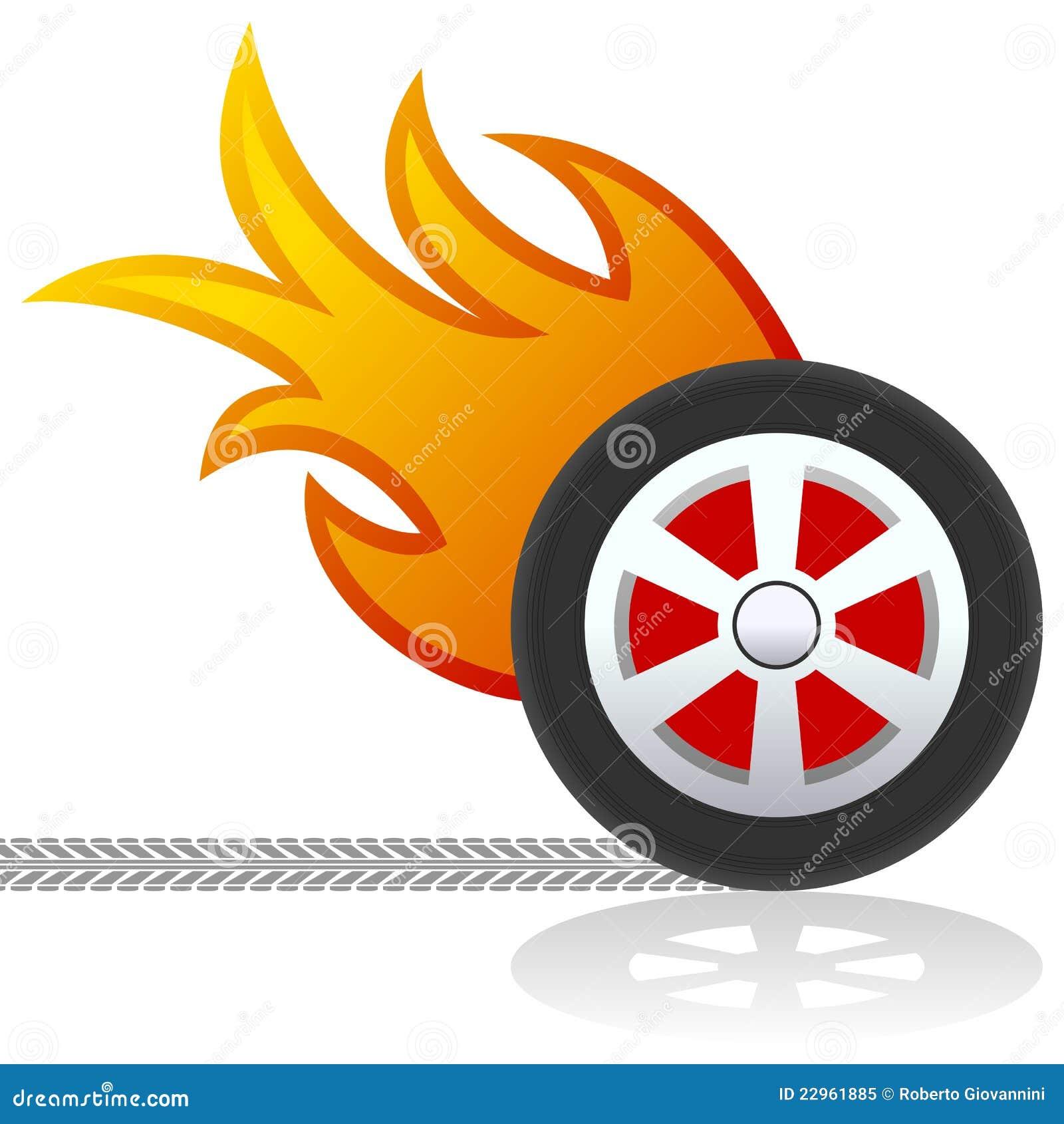 Car Wheel Flames Stock Illustrations 376 Car Wheel Flames Stock Illustrations Vectors Clipart Dreamstime