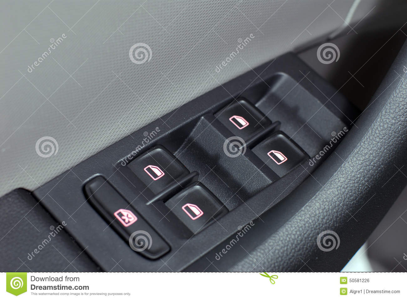 Vehicle Control Panel : Car window control panel stock photo image of detail