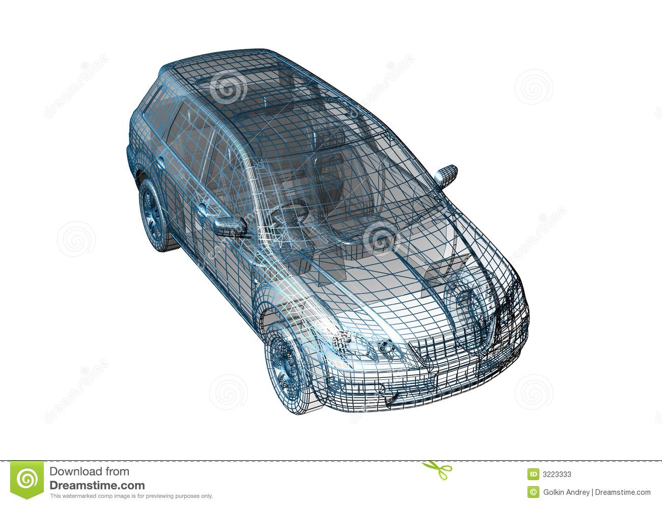 Car Wire Stock Illustration Of Drafting 3223333 Basketball Wiring Diagram Motor