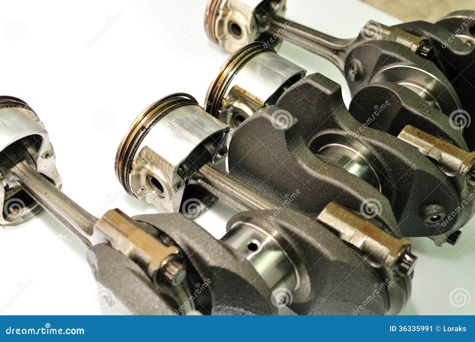 car worn crankshaft with damaged pistons stock image image of metallic engine 36335991. Black Bedroom Furniture Sets. Home Design Ideas
