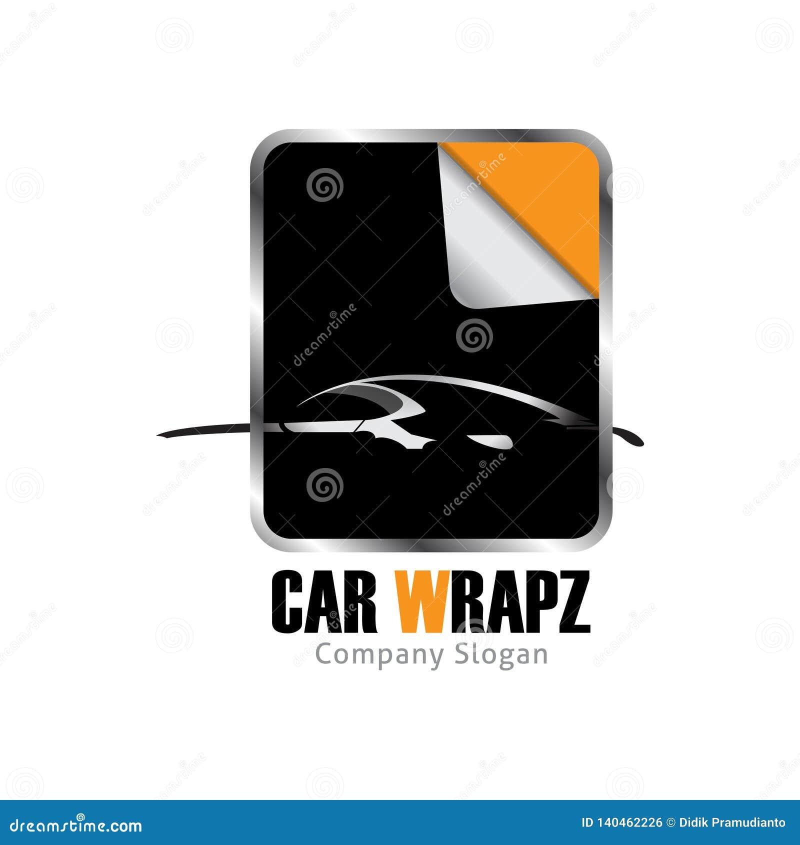 Car wrap logo design for beautiful car