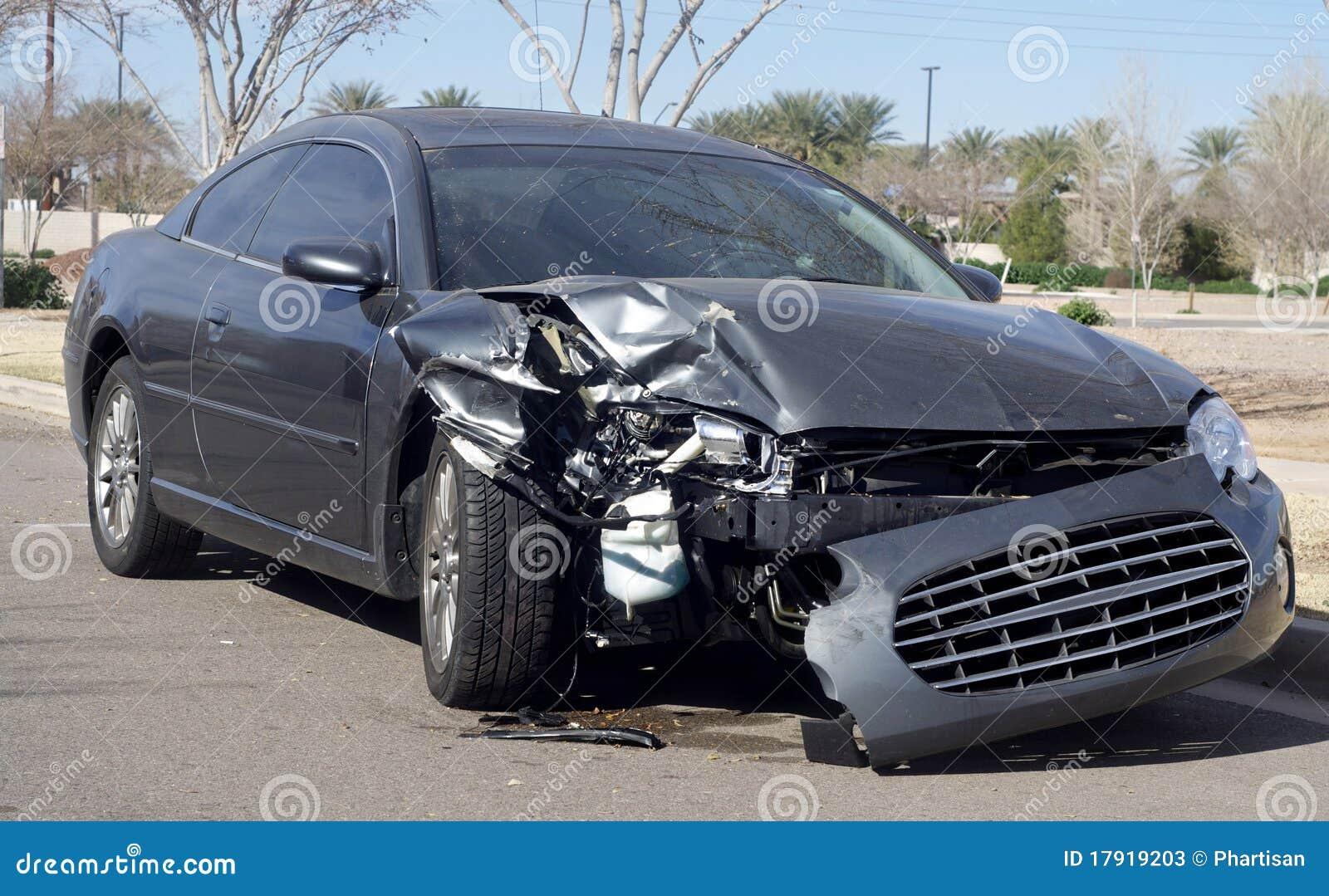 car wreck damaged after road accident stock photos image 17919203. Black Bedroom Furniture Sets. Home Design Ideas