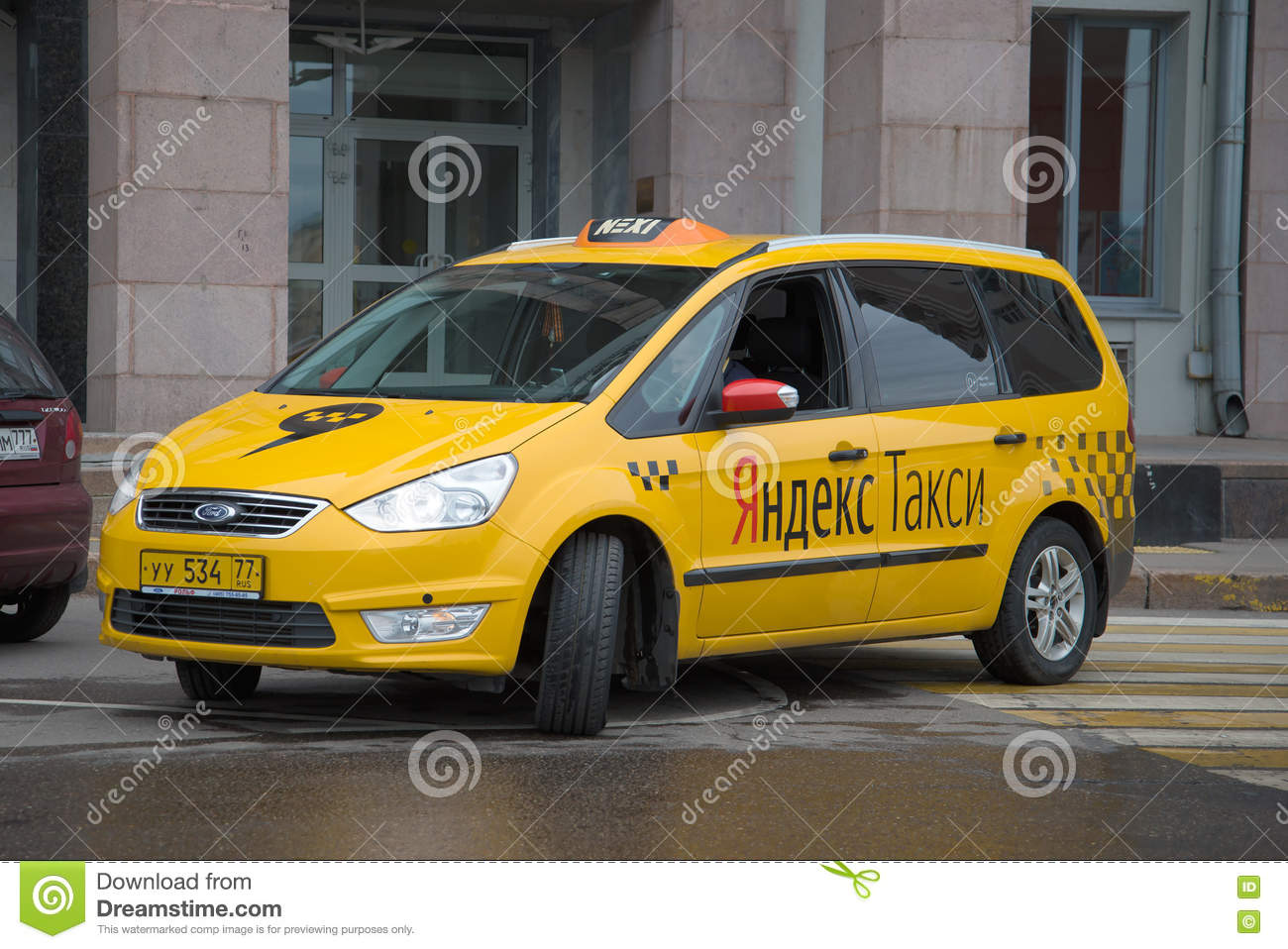 Car Yandex-Taxi Closeup  Moscow, Russia Editorial Photo