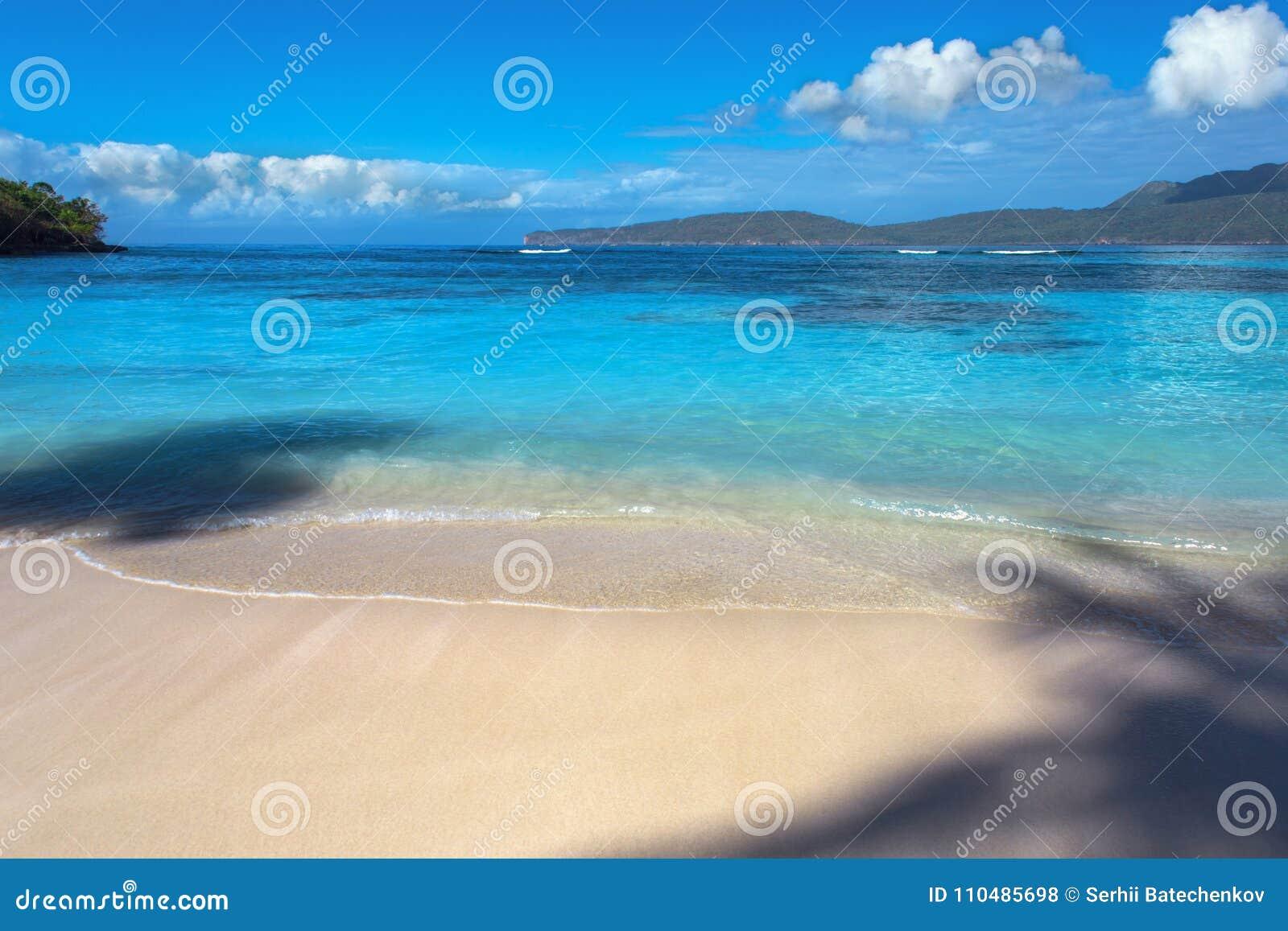 Caraïbisch landschap of zeegezicht Perfect strand met blauwe overzees