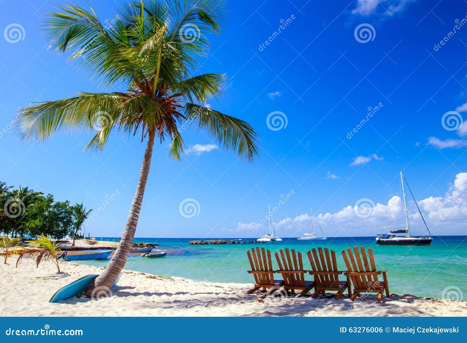 Caraïbisch strand in Dominicaanse Republiek