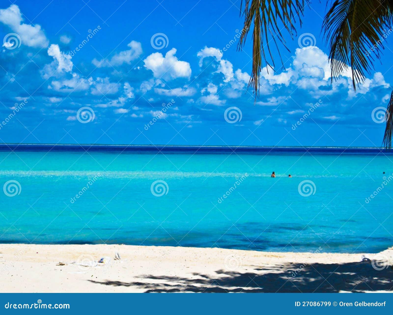 Caraïbisch Strand. Mexico
