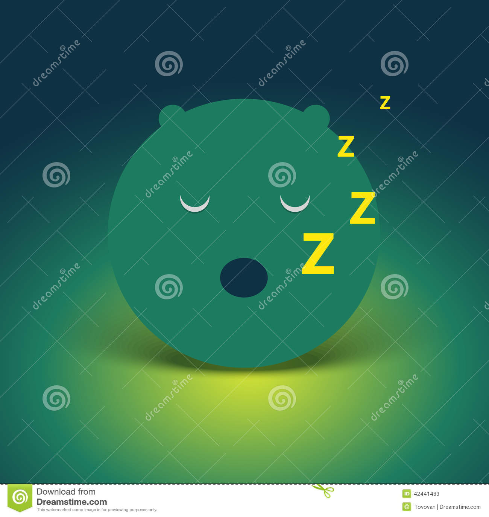 Cara abstracta el dormir