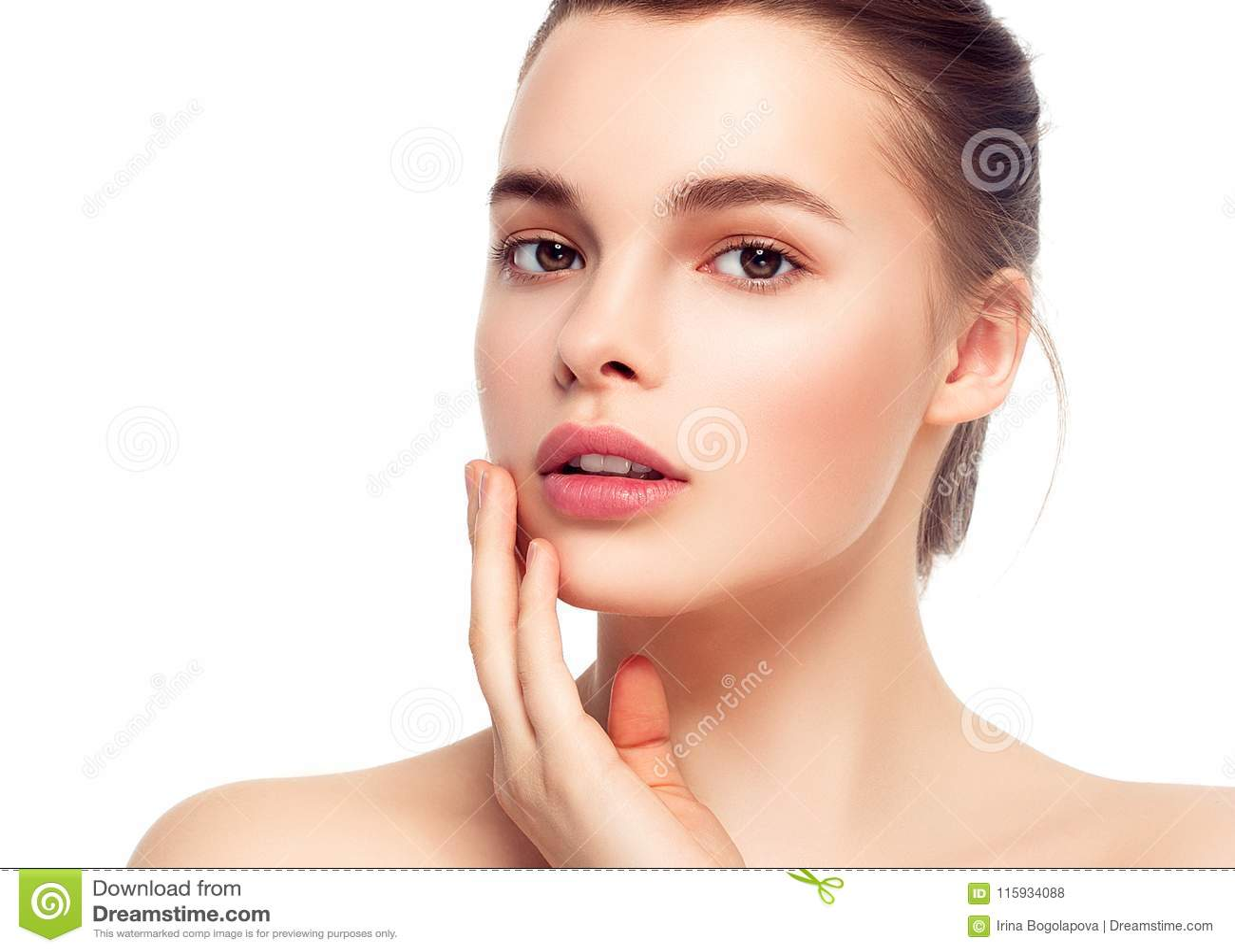 Cara colorida de la mujer del maquillaje, wi morenos hermosos del maquillaje del verano