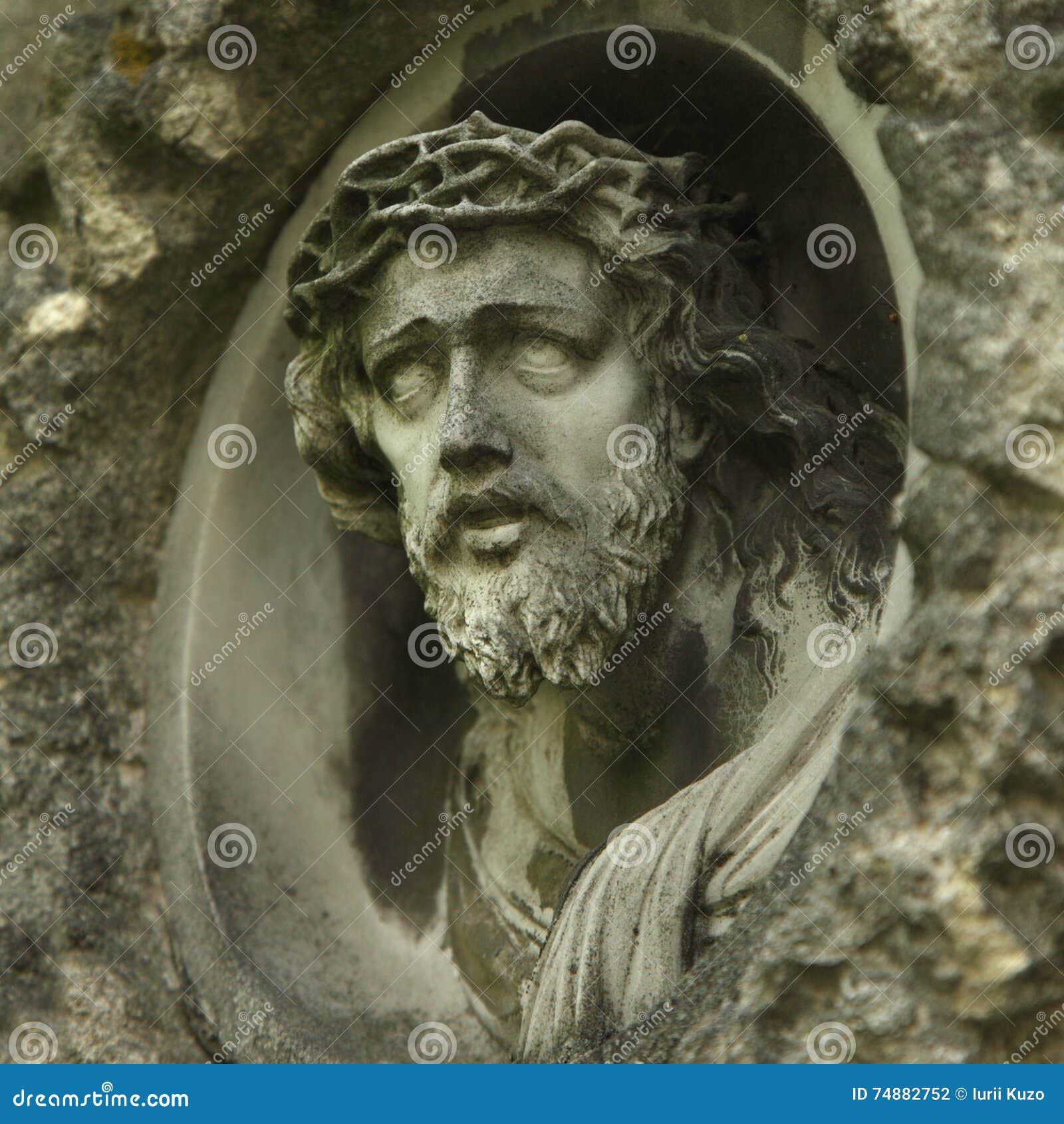 Cara da coroa de Jesus Christ de espinhos (estátua)