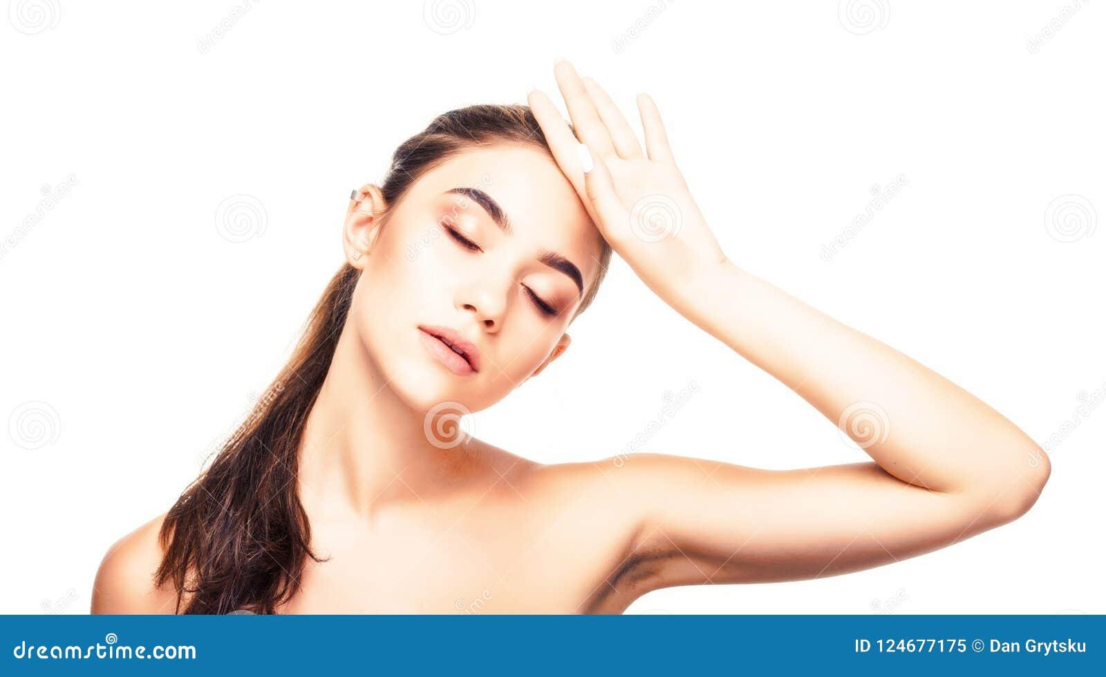 Cara de la belleza E r Cierre para arriba cosmetología Skincare