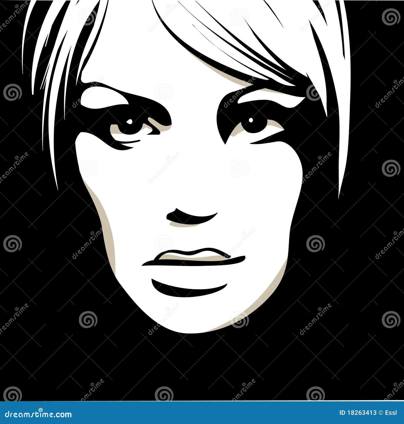Cara De La Mujer Con Los Ojos Hermosos Ilustración Del Vector